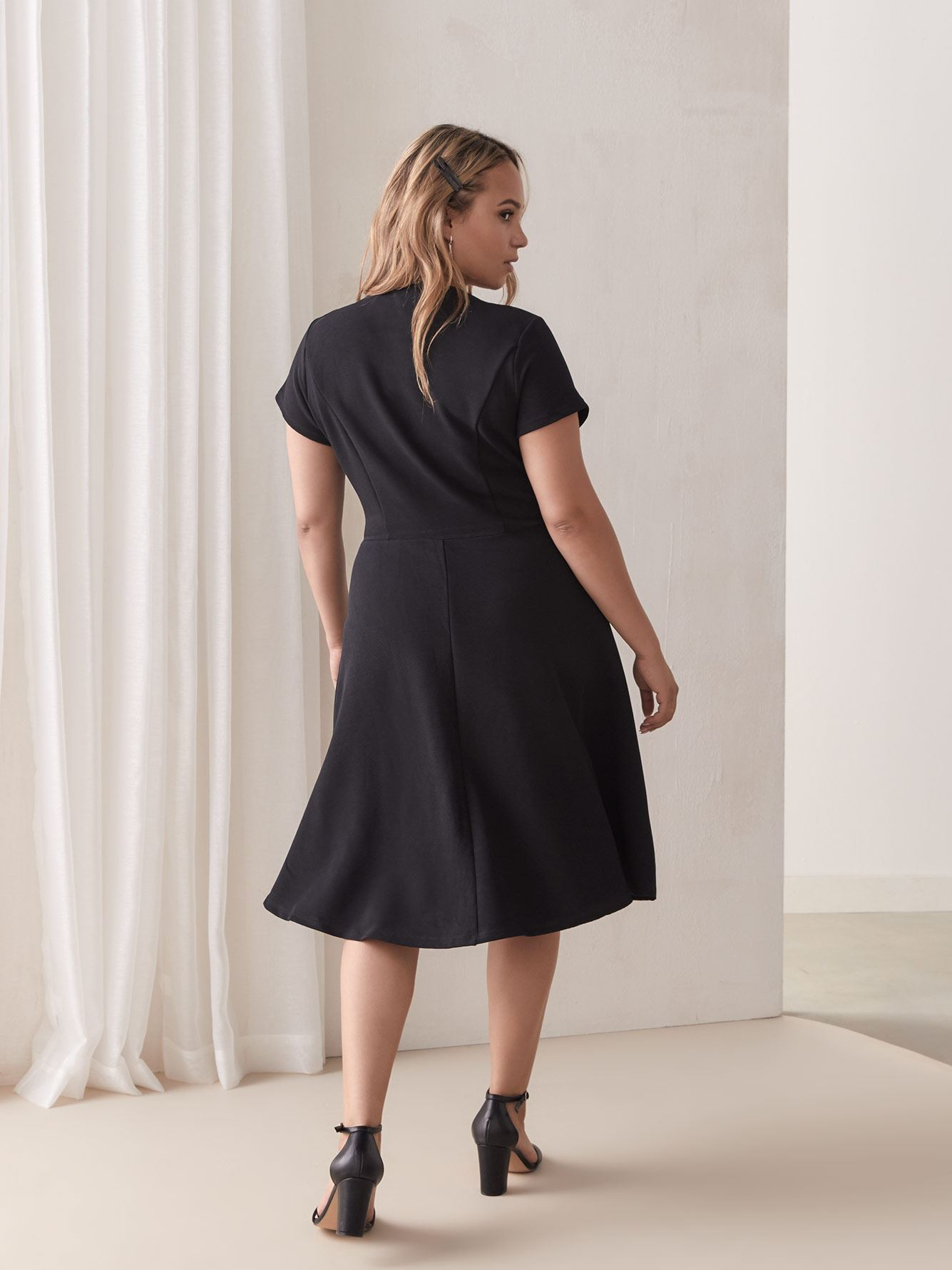 Low Cut Dress with Knot - City Chic