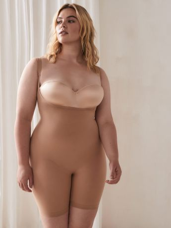 Body Wrap Long Leg Under Bust Body Suit