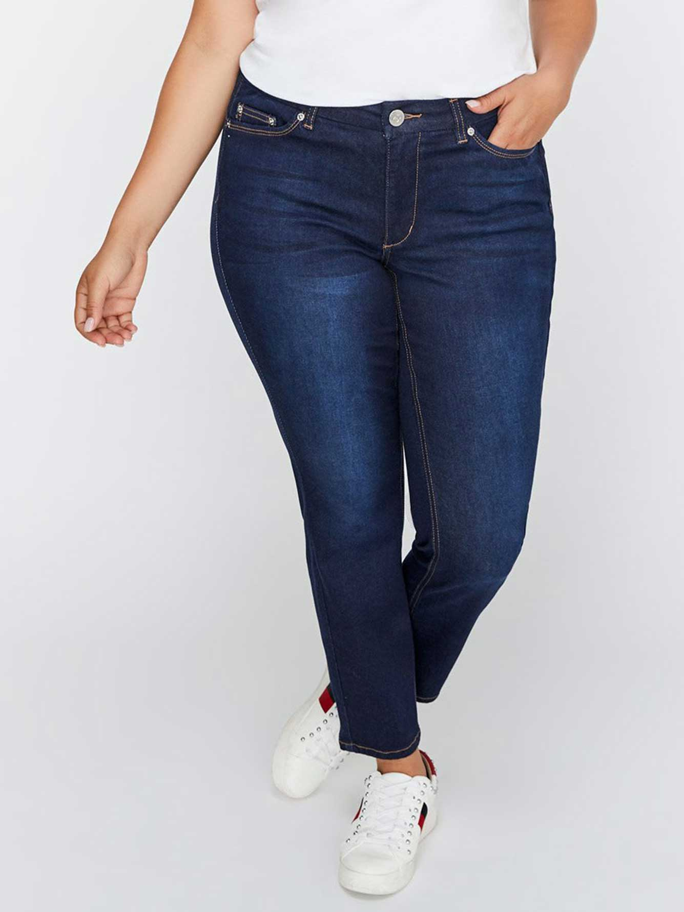 Petite Shaping Slim Leg Denim - L&L