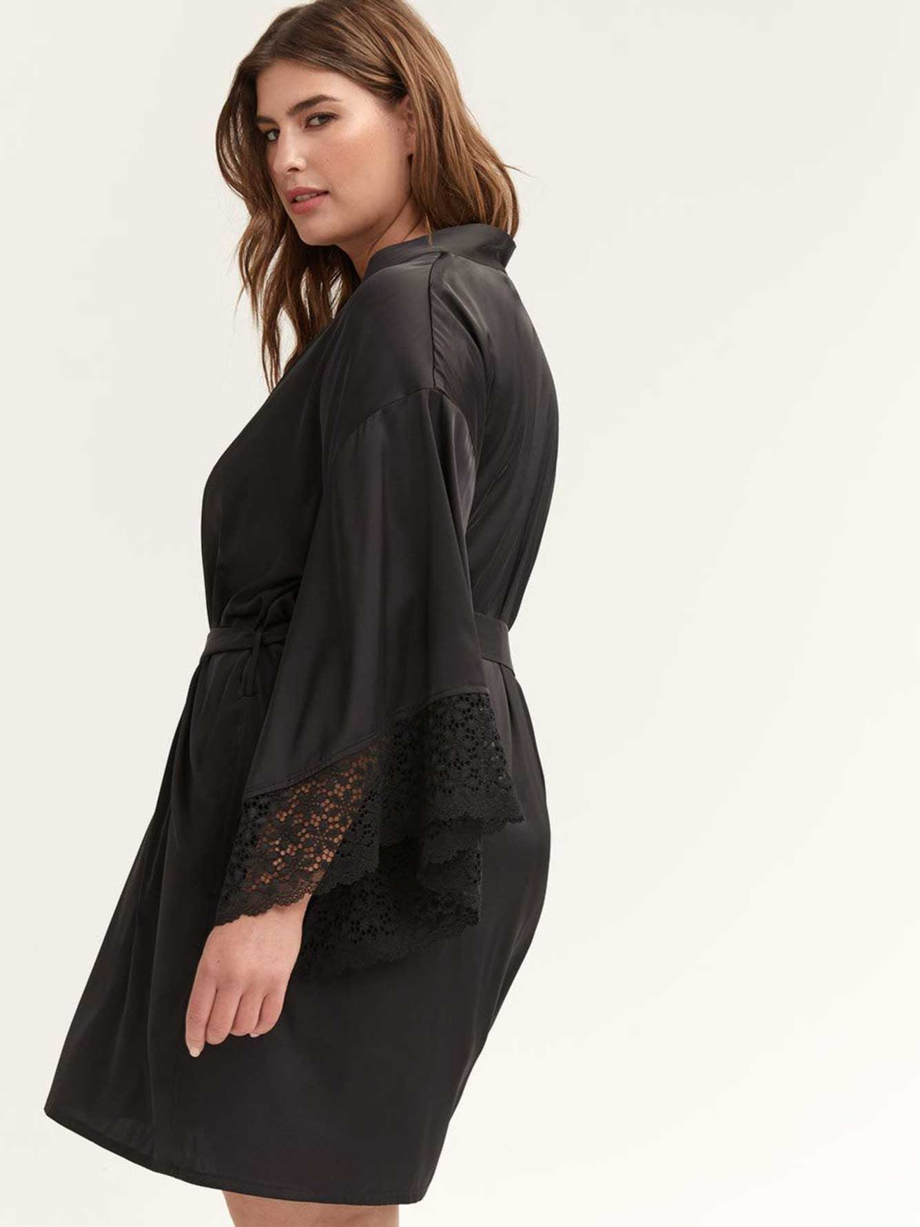 Elbow Sleeve Lounge Kimono - Ashley Graham