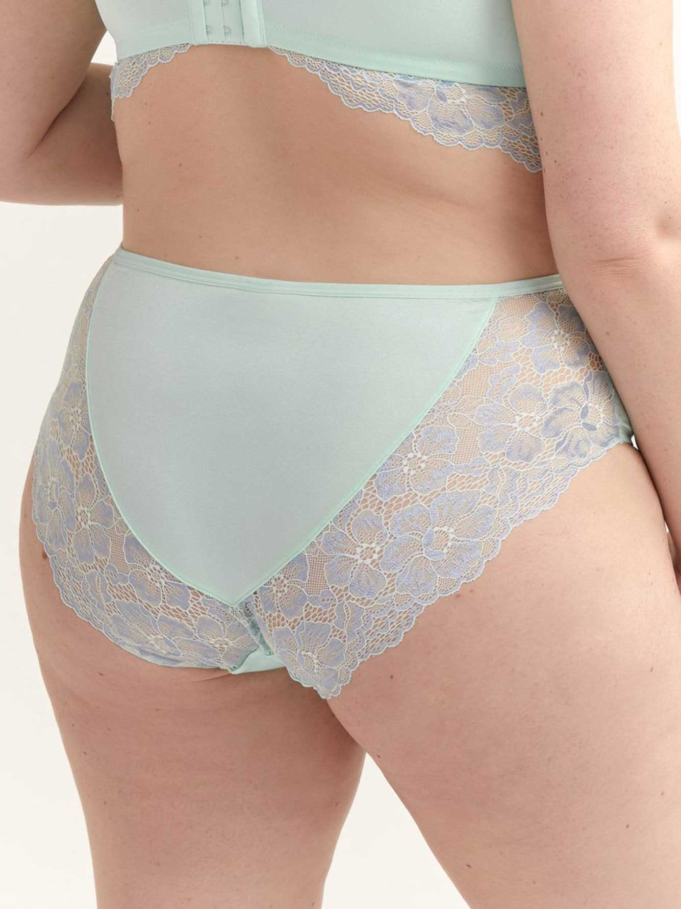 High Cut Panty with Lace - Déesse Collection