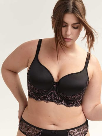 Long Line Bra with Lace - Déesse Collection