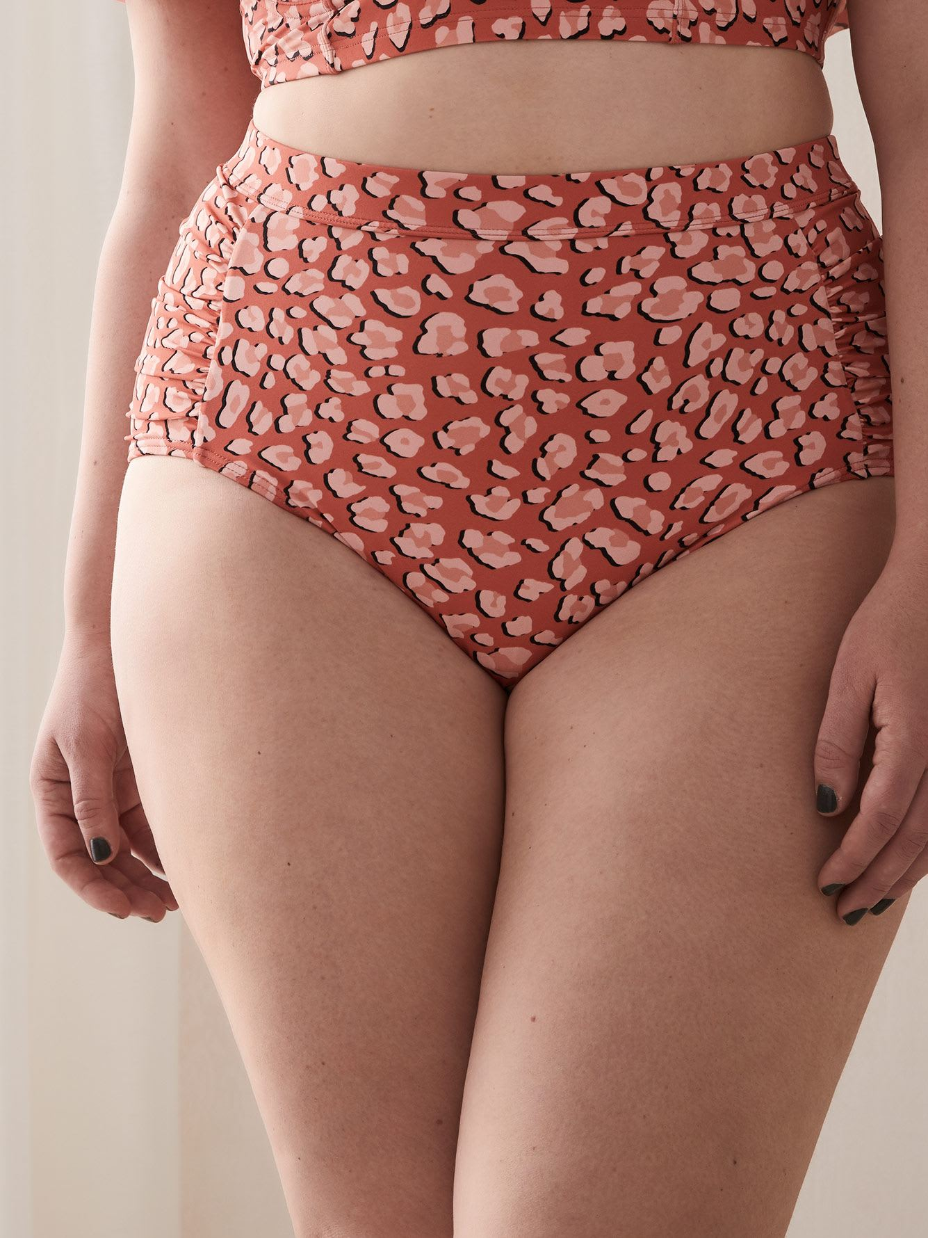 Printed Swim Brief with Wide Waistband - Cactus