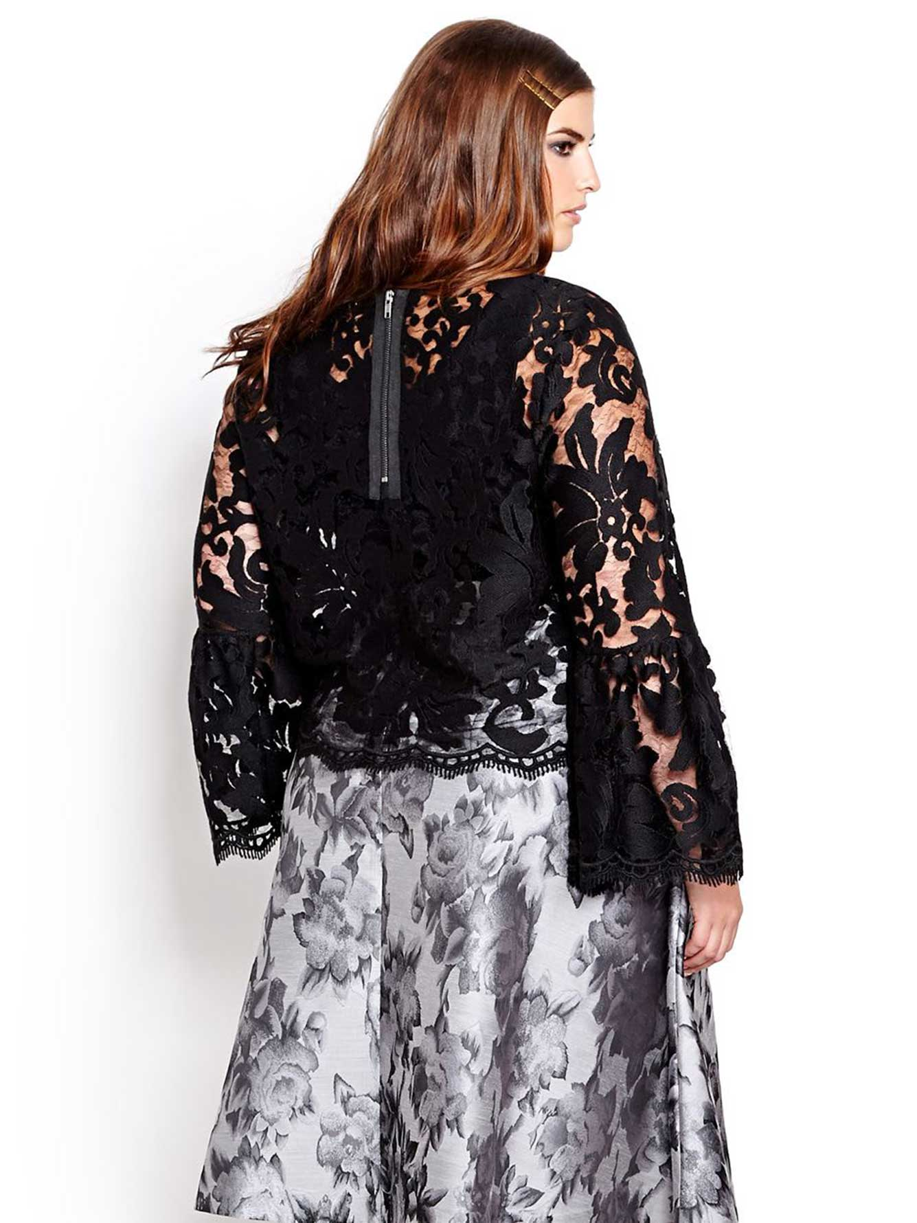 L&L Bell Sleeve Lace Top