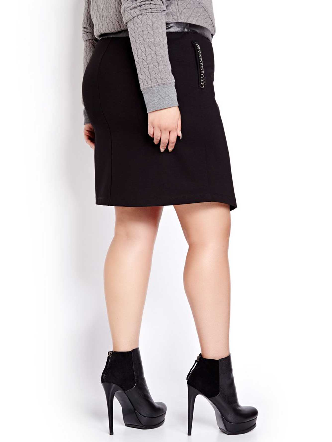 Nadia Aboulhosn Asymmetric Zip Skirt for L&L