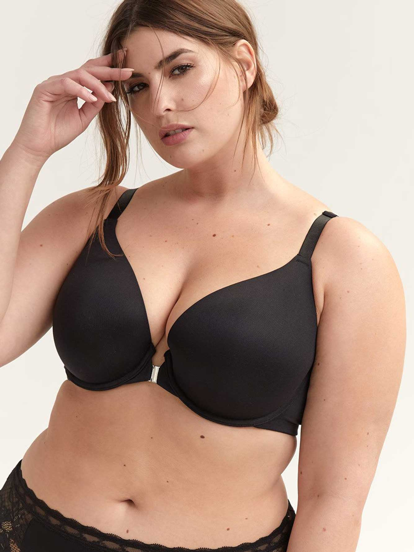 Plunge Bra with Front-Closure - Déesse Collection