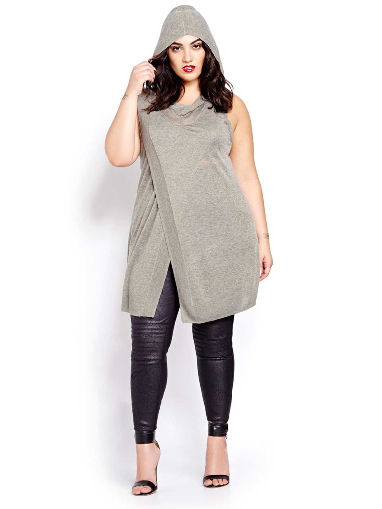 Nadia Aboulhosn Hooded Sleeveless Sweater for L&L
