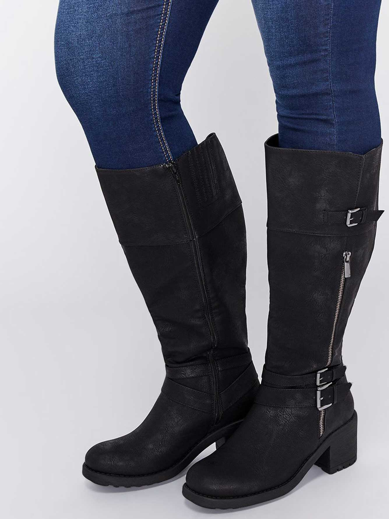 Boots with Strap Details - Sandra