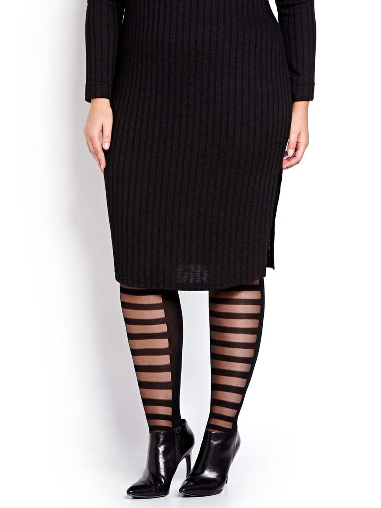 Front Shadow Stripes Lightweight Tight