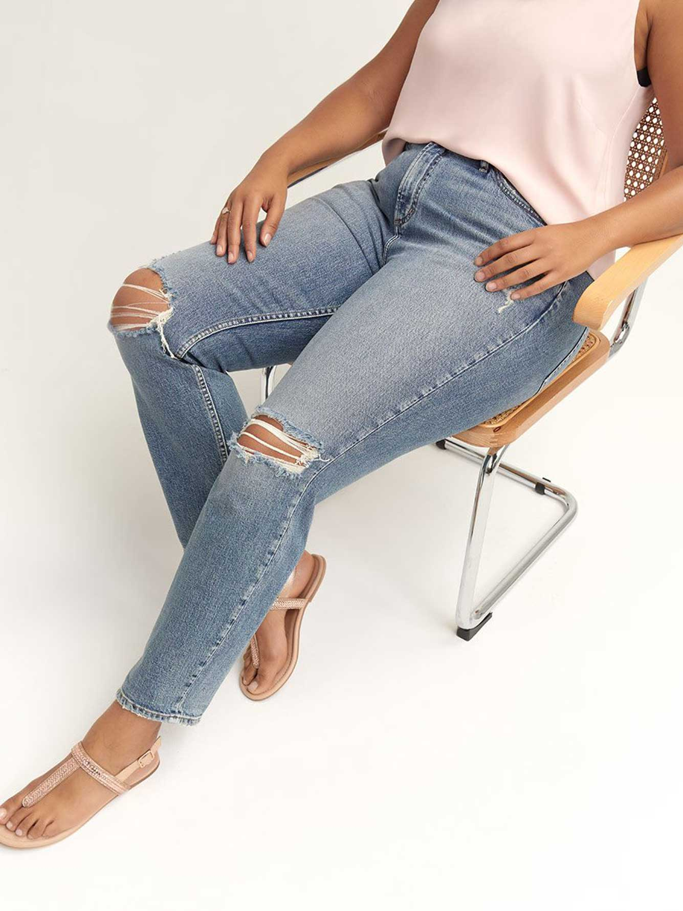 High Waist Tapered Frisco Jeans - Silver Jeans