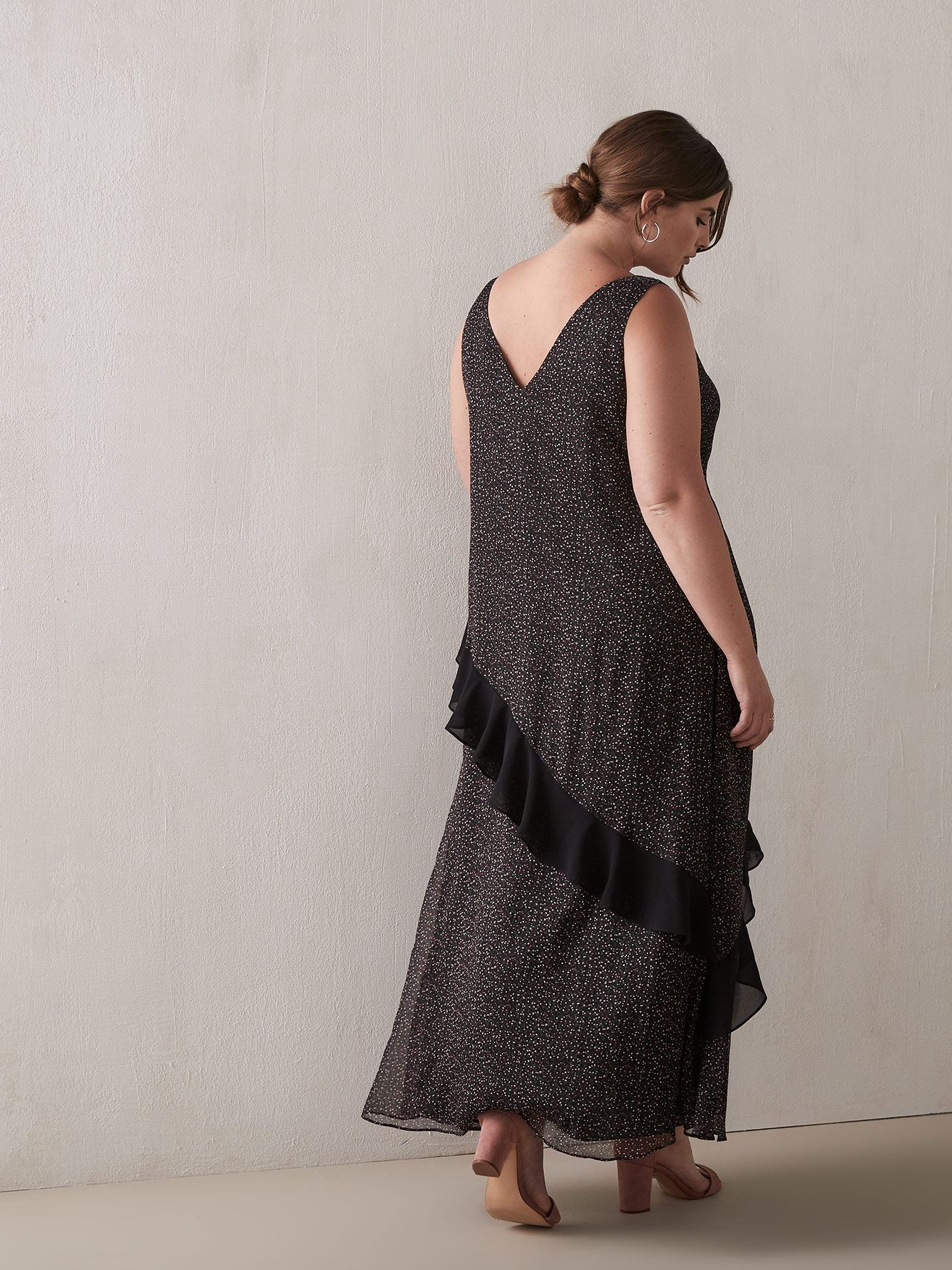 Leta Ruffle Maxi Dress - RACHEL Rachel Roy