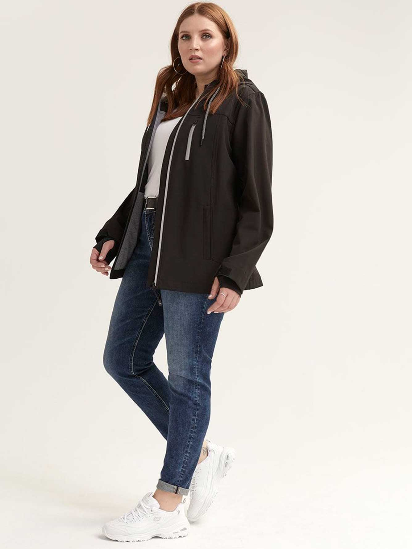 Casual Soft-Shell Hooded Jacket - Nola
