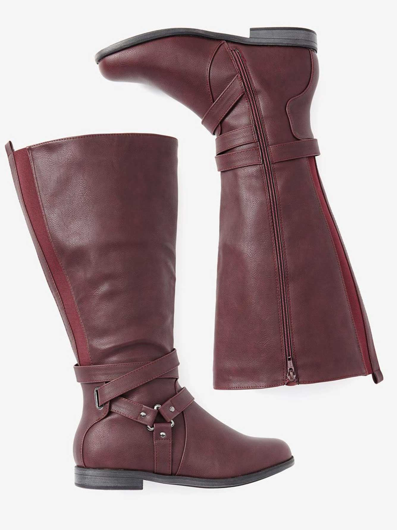 Nanette High Boot with Buckle