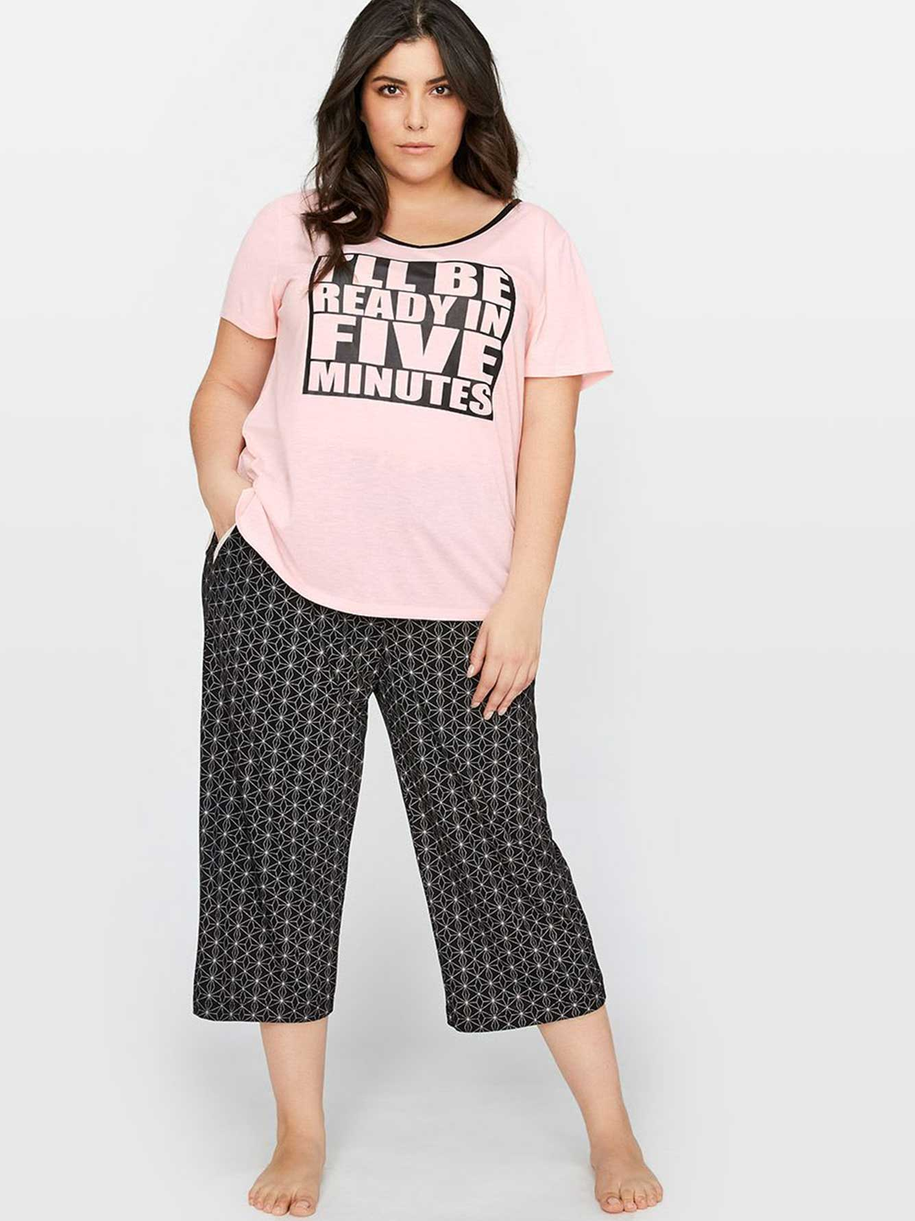 PJ Tee with Print - Déesse Collection