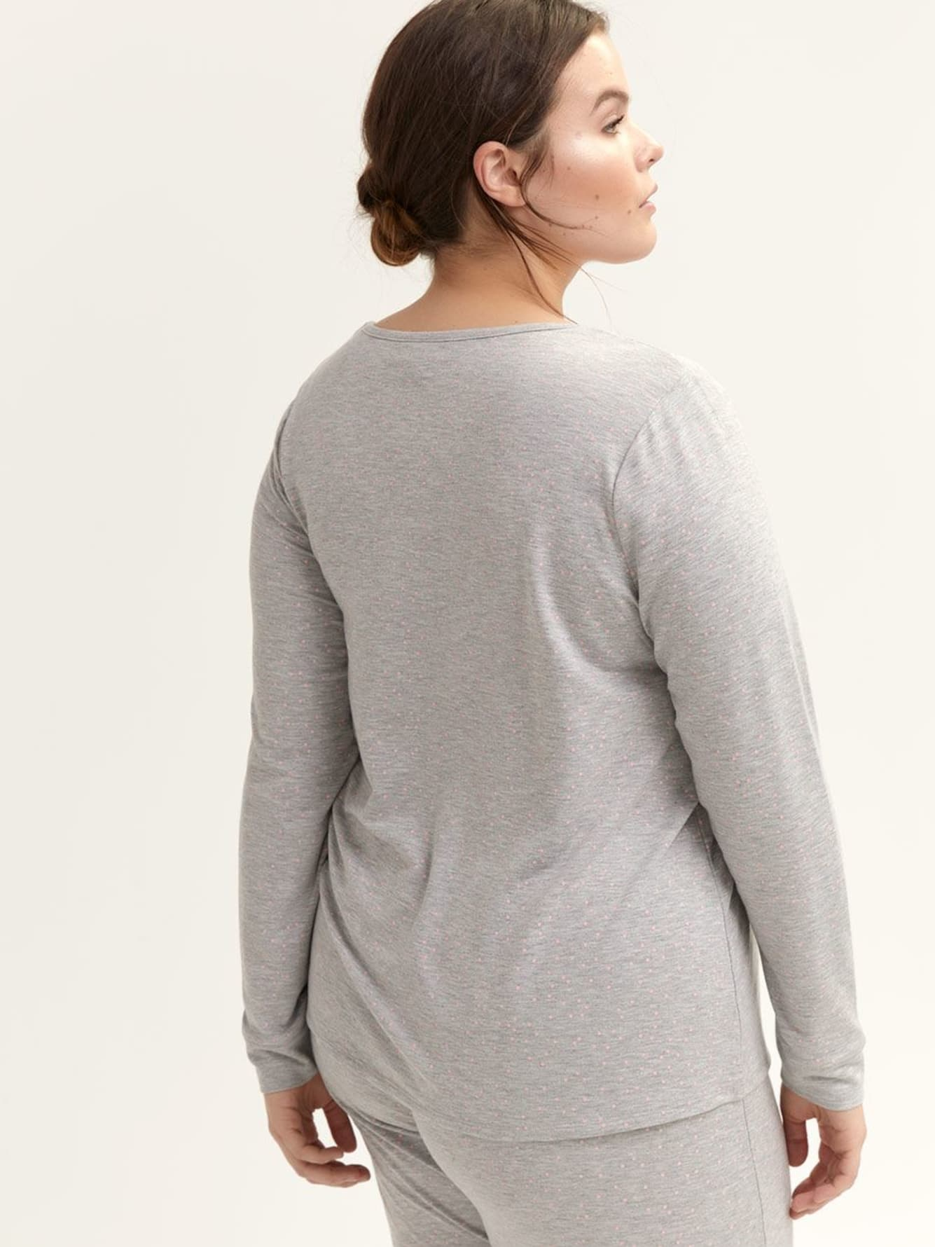 Long Sleeve Pajama Top - Déesse Collection