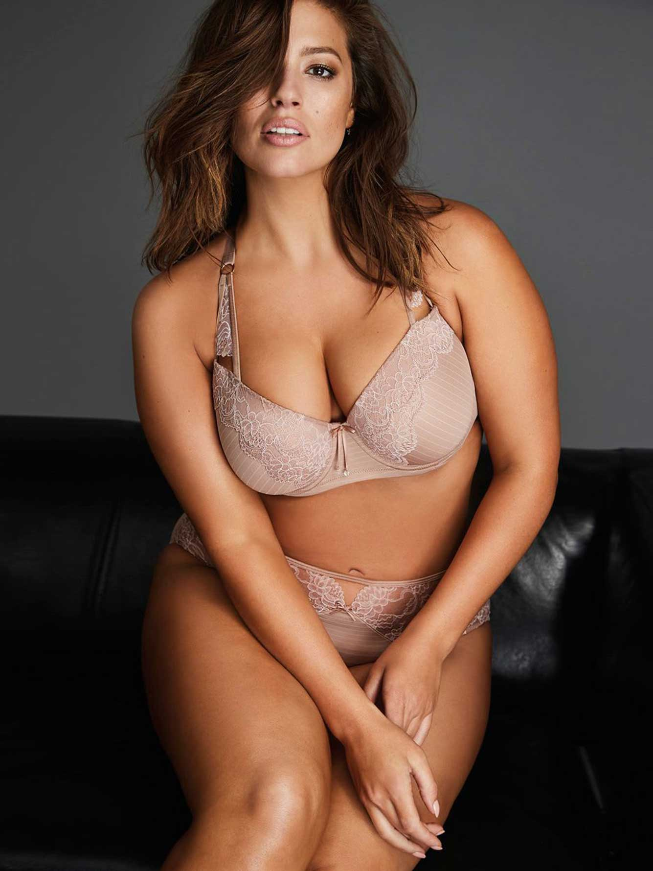 Soutien-gorge Virtuose à dentelle et rayures Ashley Graham
