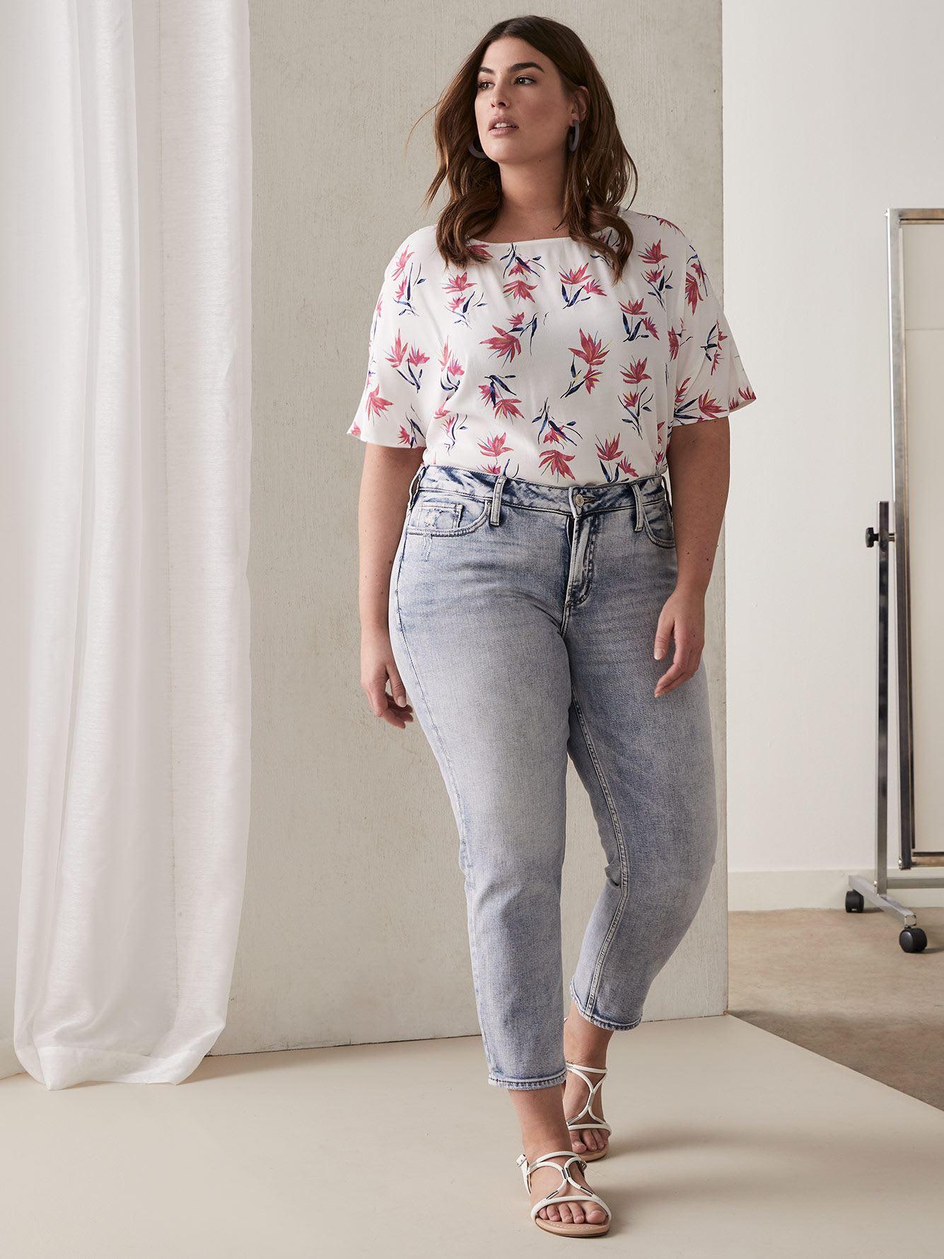 Jean écourté étroit Elyse - Silver Jeans