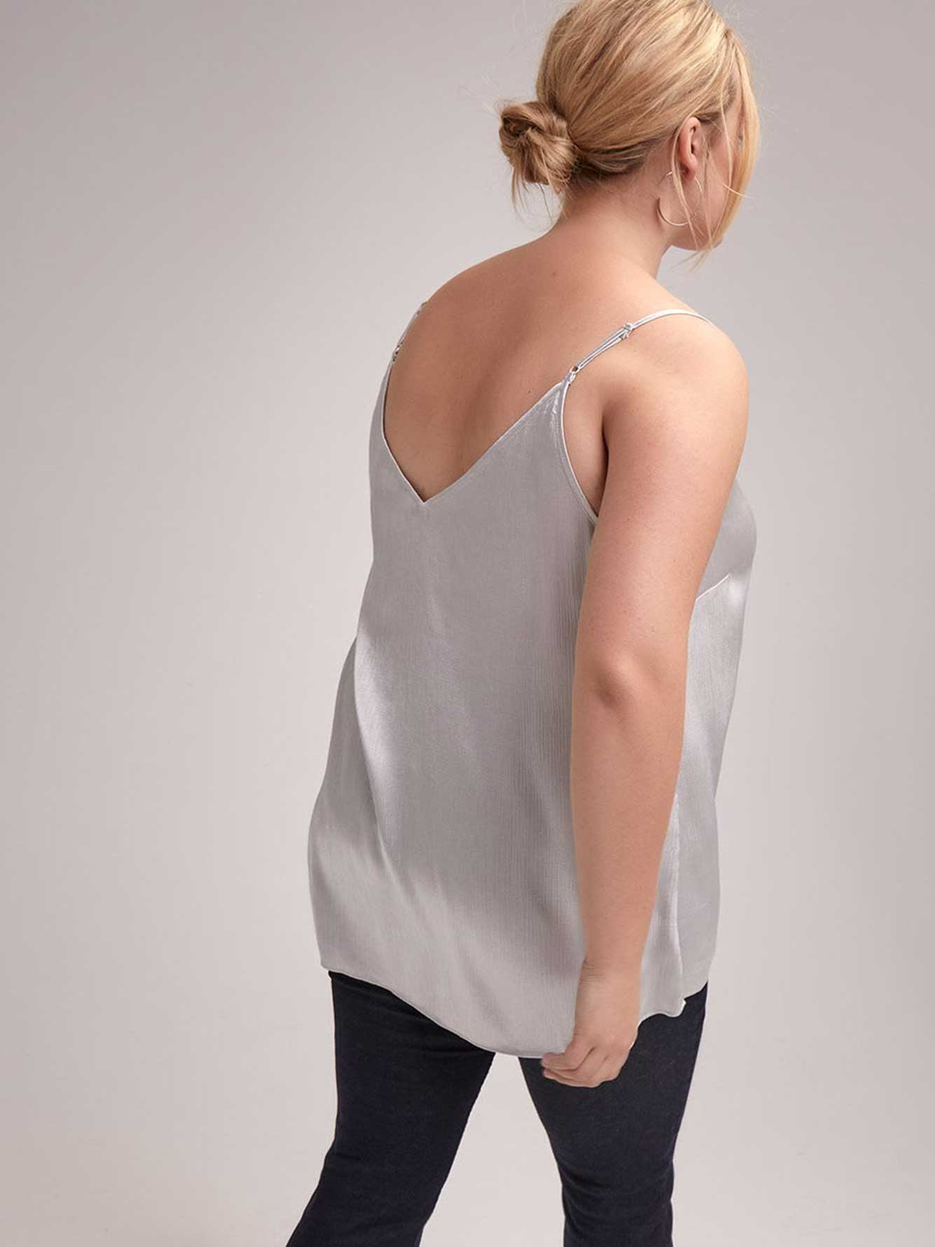 Adjustable Cami with Lace Trims - Michel Studio