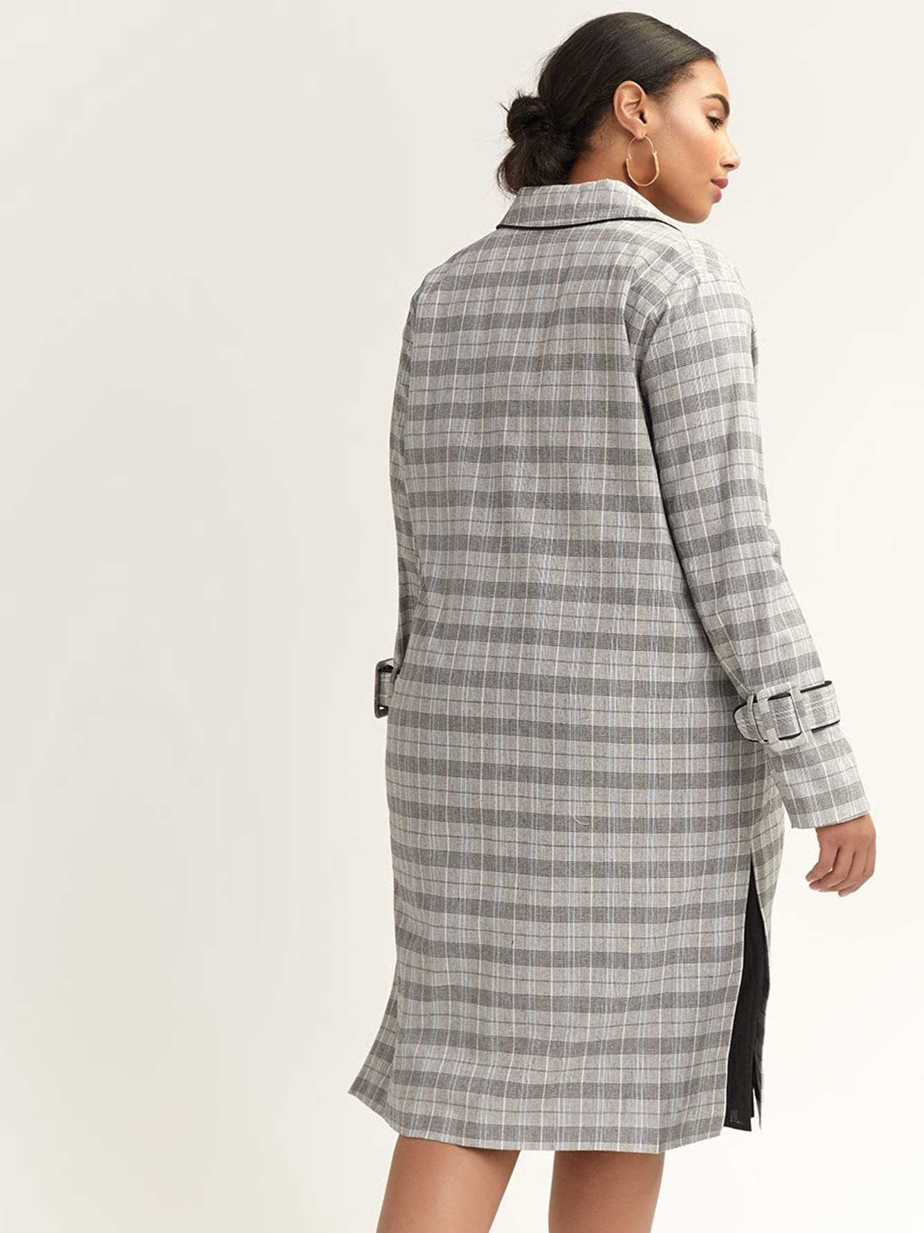 Tartan Duster Coat - Lost Ink