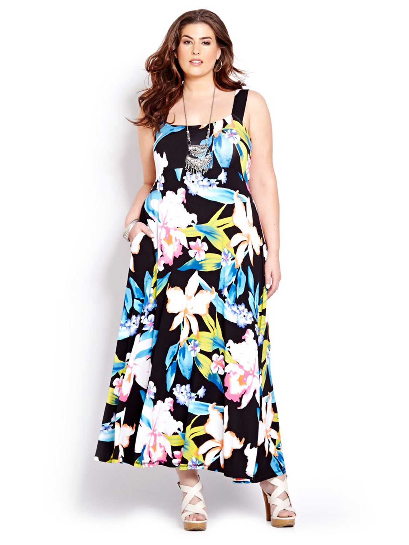 Reversible Sleeveless Printed Maxi Dress