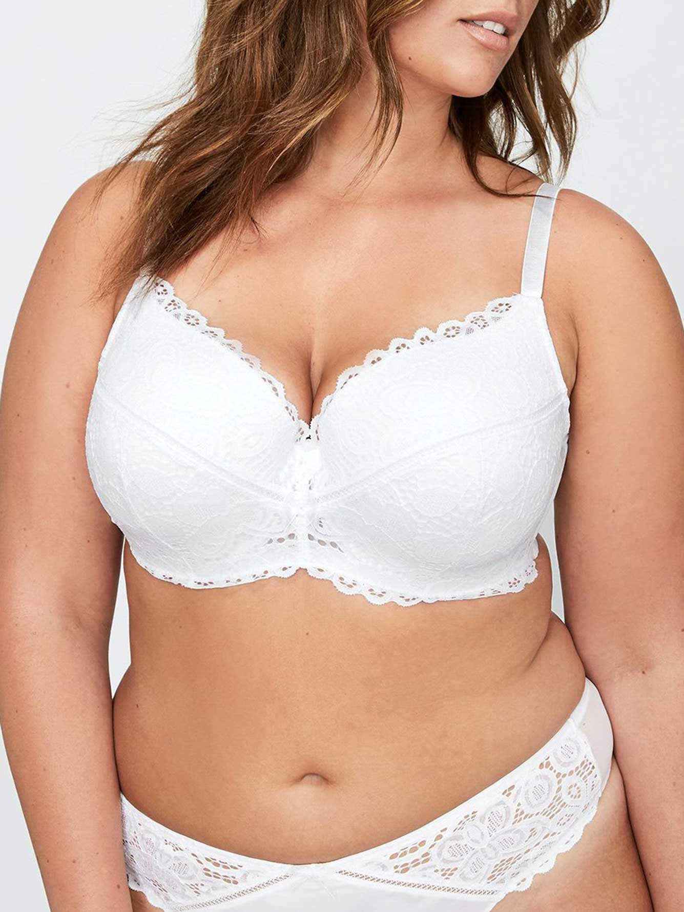 Lace Contour Flirt Padded Underwire Bra, Sizes G & H - Déesse Collection