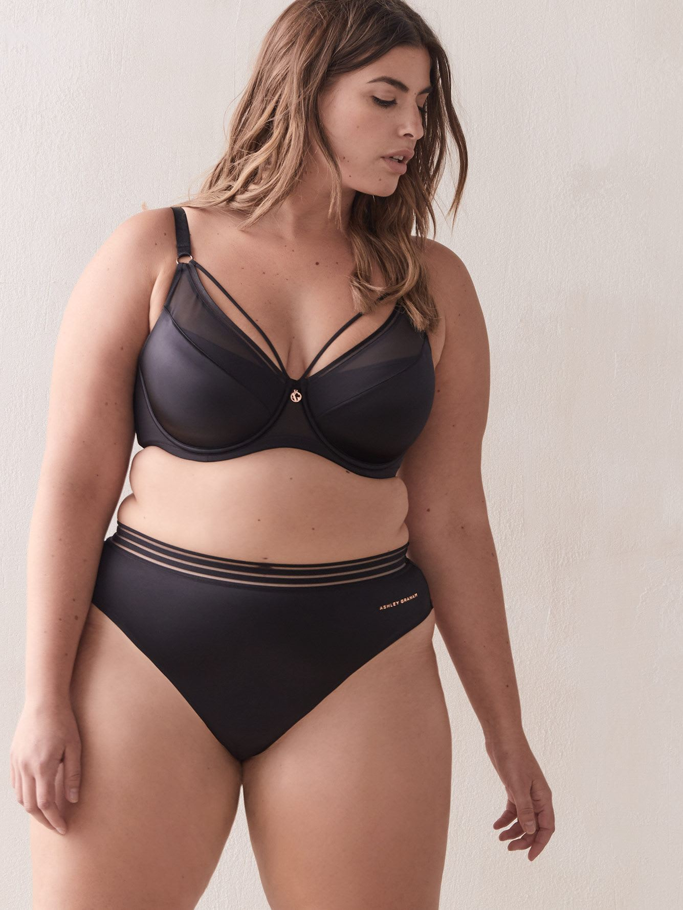 Ashley Graham - Soutien-gorge Diva à demi bonnets, bonnets G et H