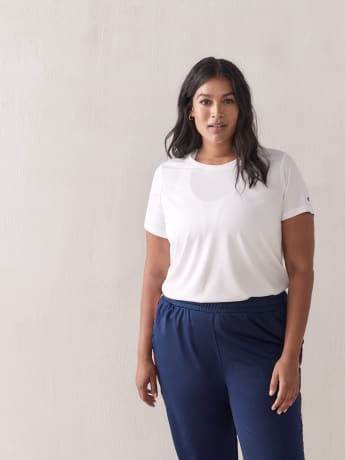 Double Dry White Basic T-Shirt - Champion