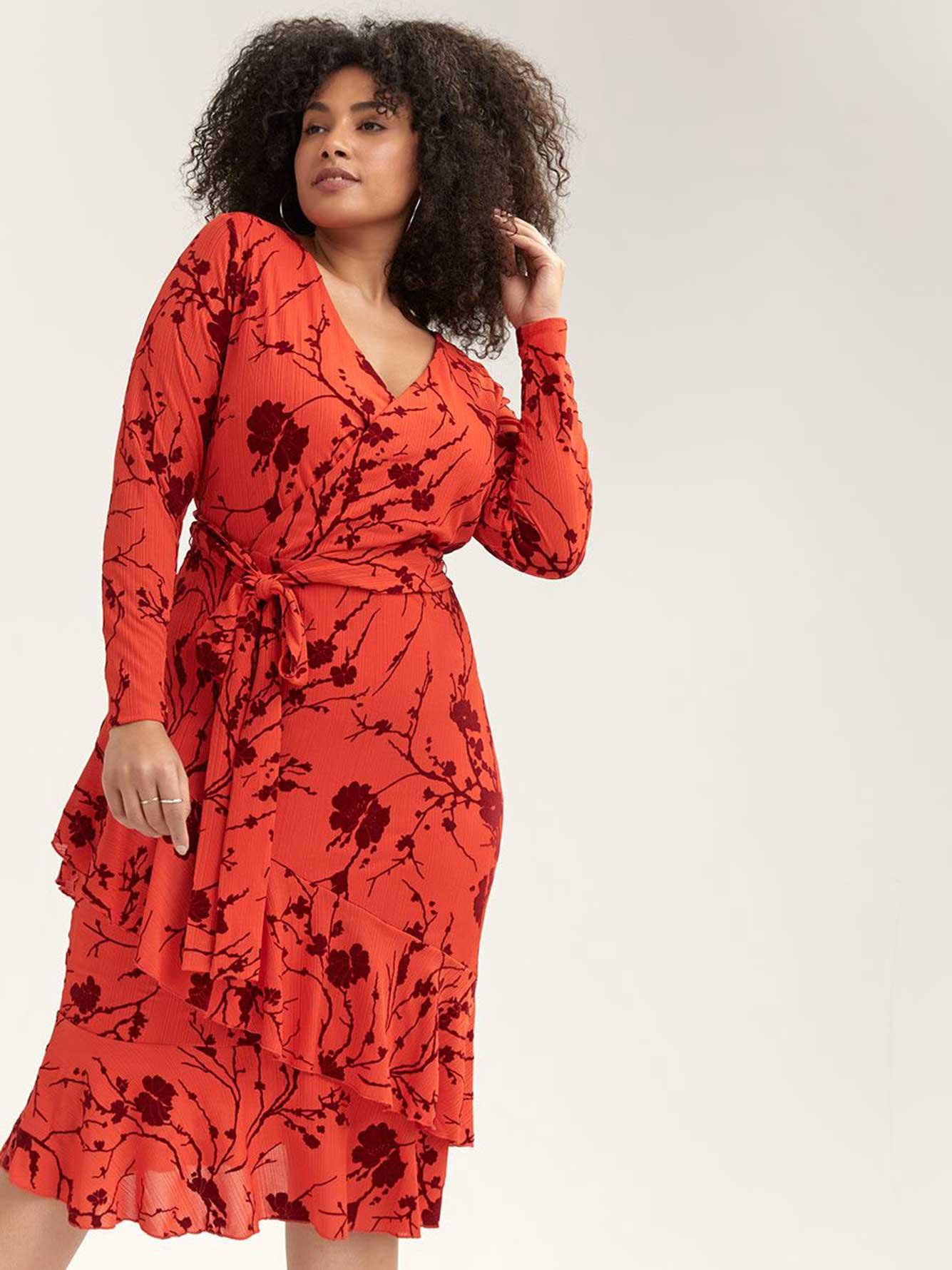 Tie-at-Waist Faux-Wrap Dress - RACHEL Rachel Roy