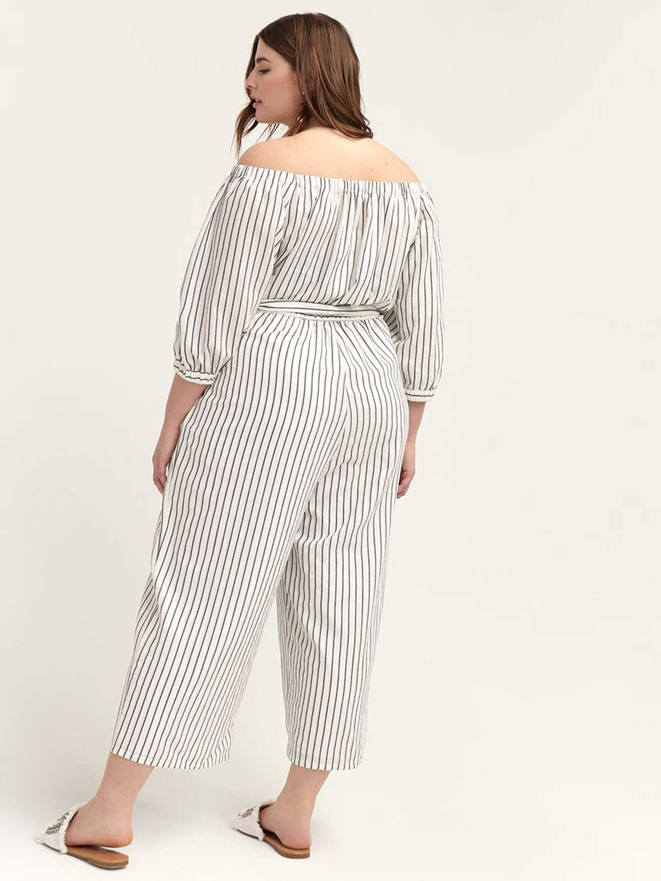 Off-the-Shoulder Tie-at-Waist Aida Jumpsuit - RACHEL Rachel Roy