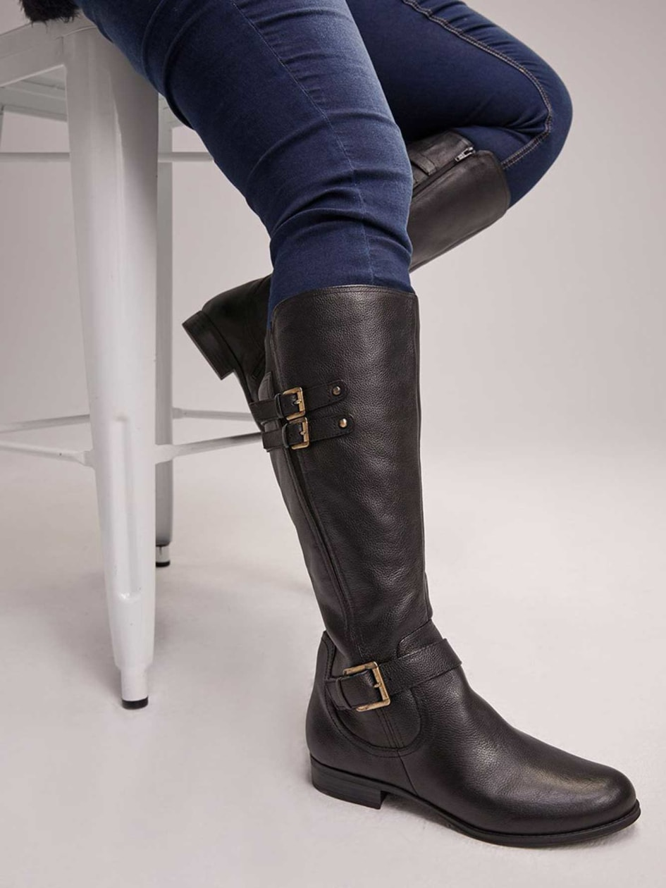 8f3093a0f77 Extra Wide Calf Tall Boots with Studs