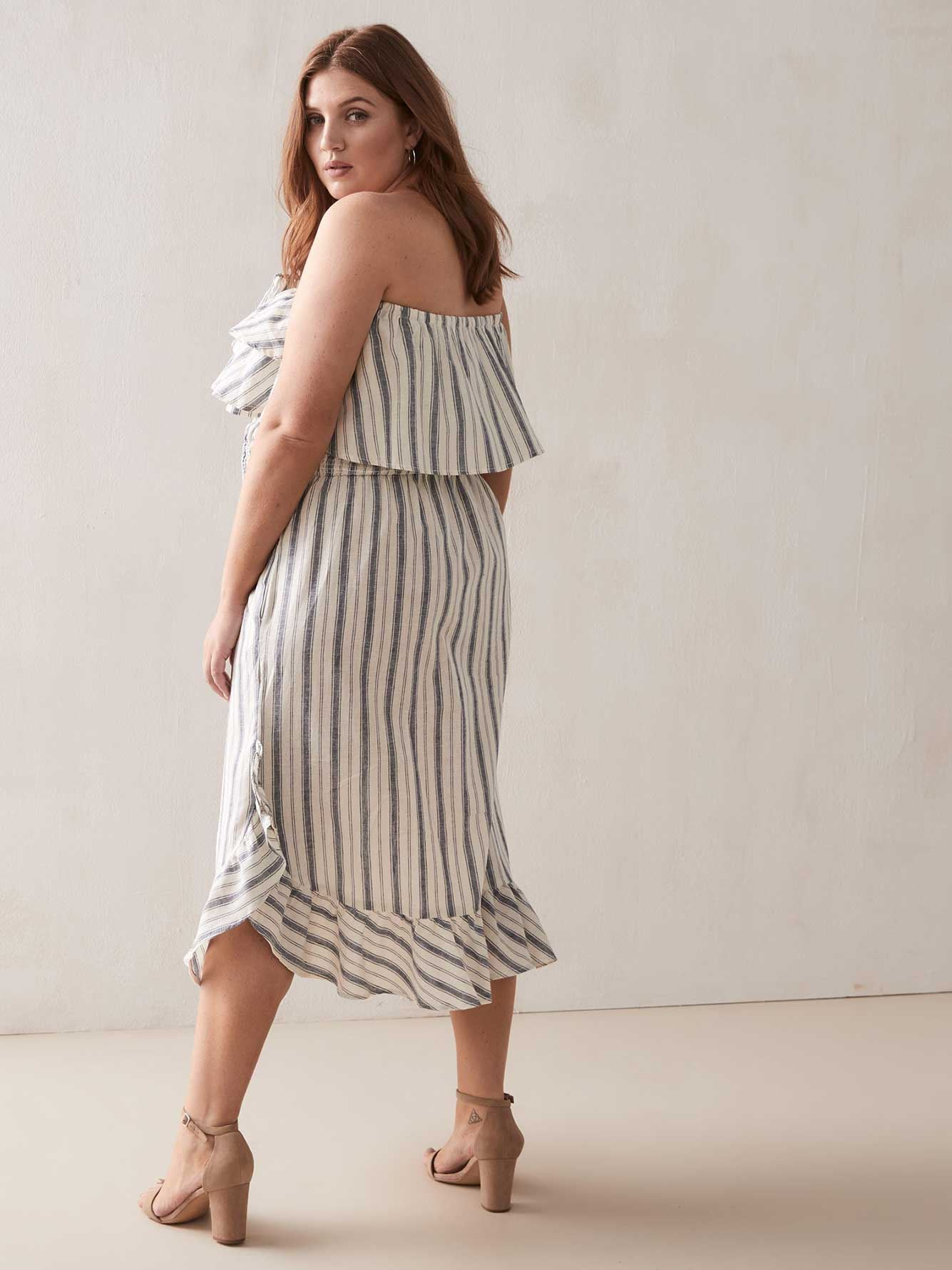 Off-the-Shoulder Jancinita Linen Dress - RACHEL Rachel Roy