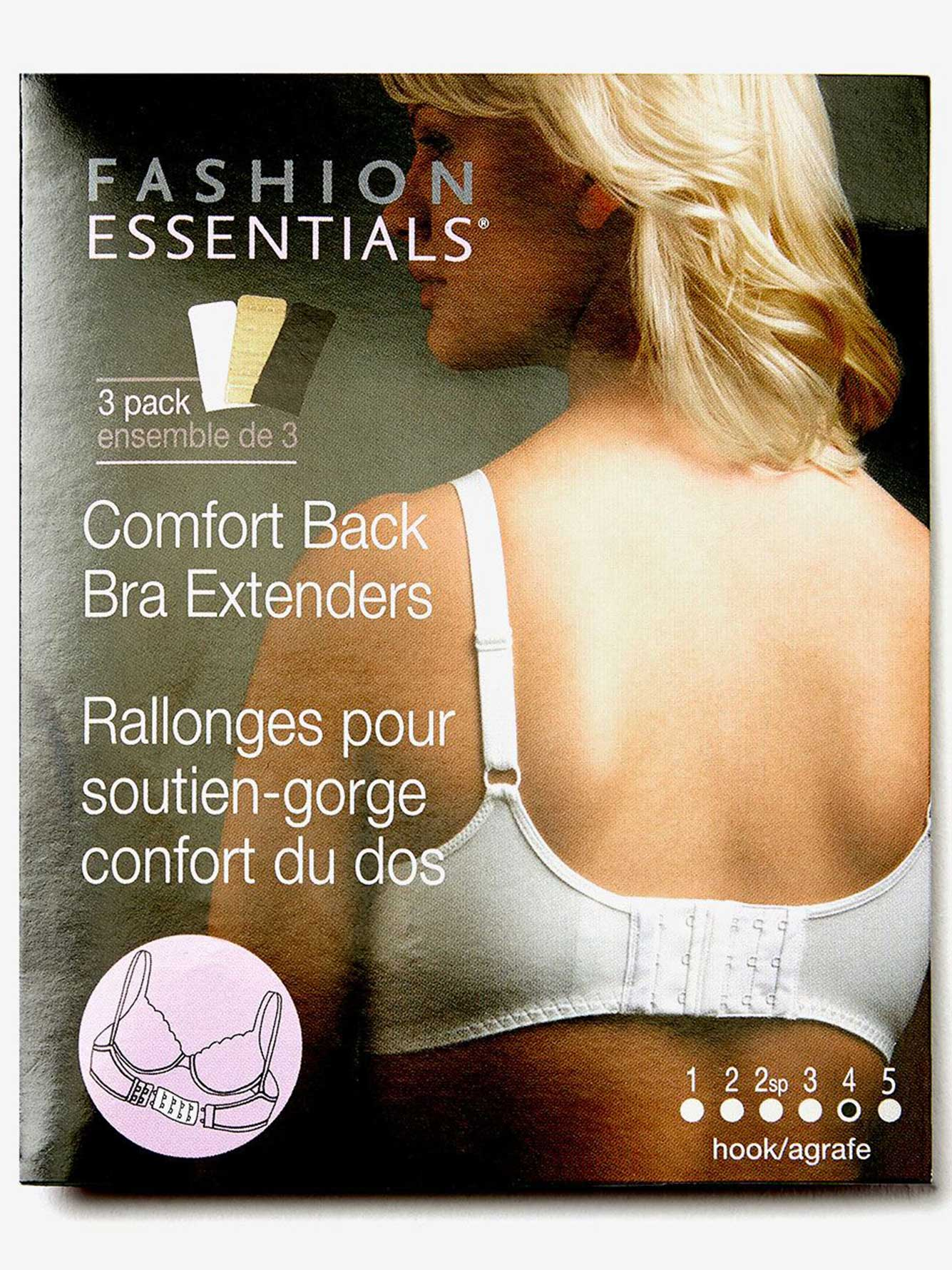 4 Hook Bra Extender 3 Pack