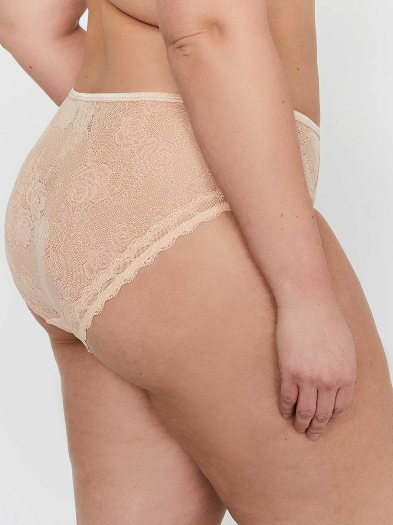 High Cut Lace Panty - Déesse Collection