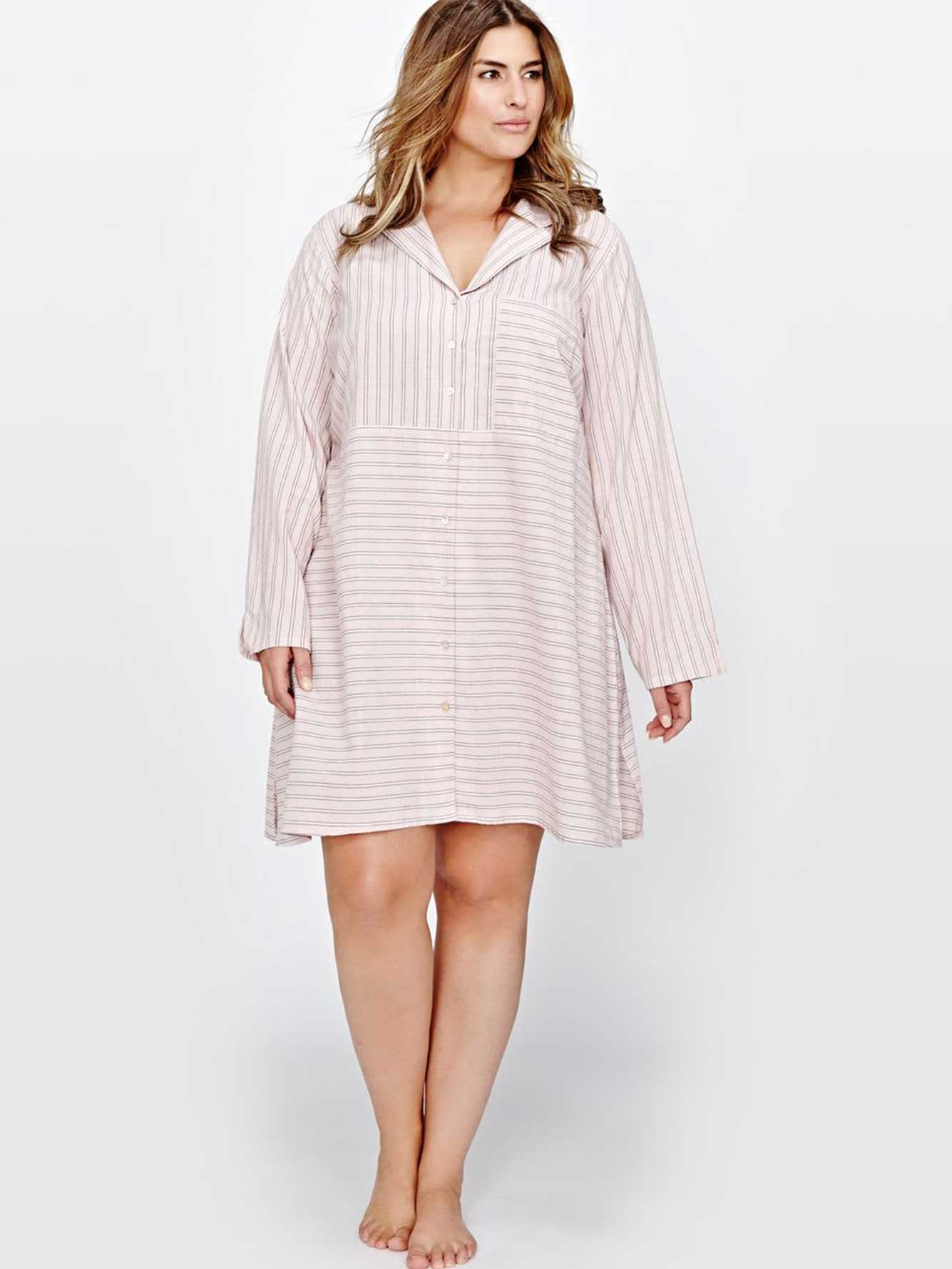 Printed Long Sleeves Sleepshirt - Déesse Collection