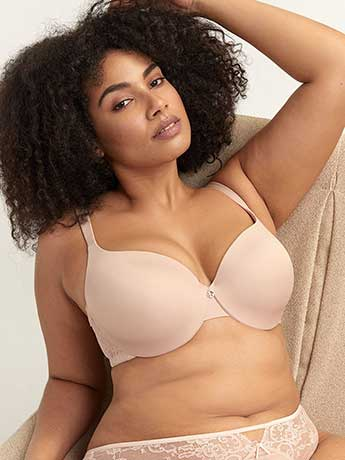 Lace Embellished Icon T-shirt Bra - Ashley Graham