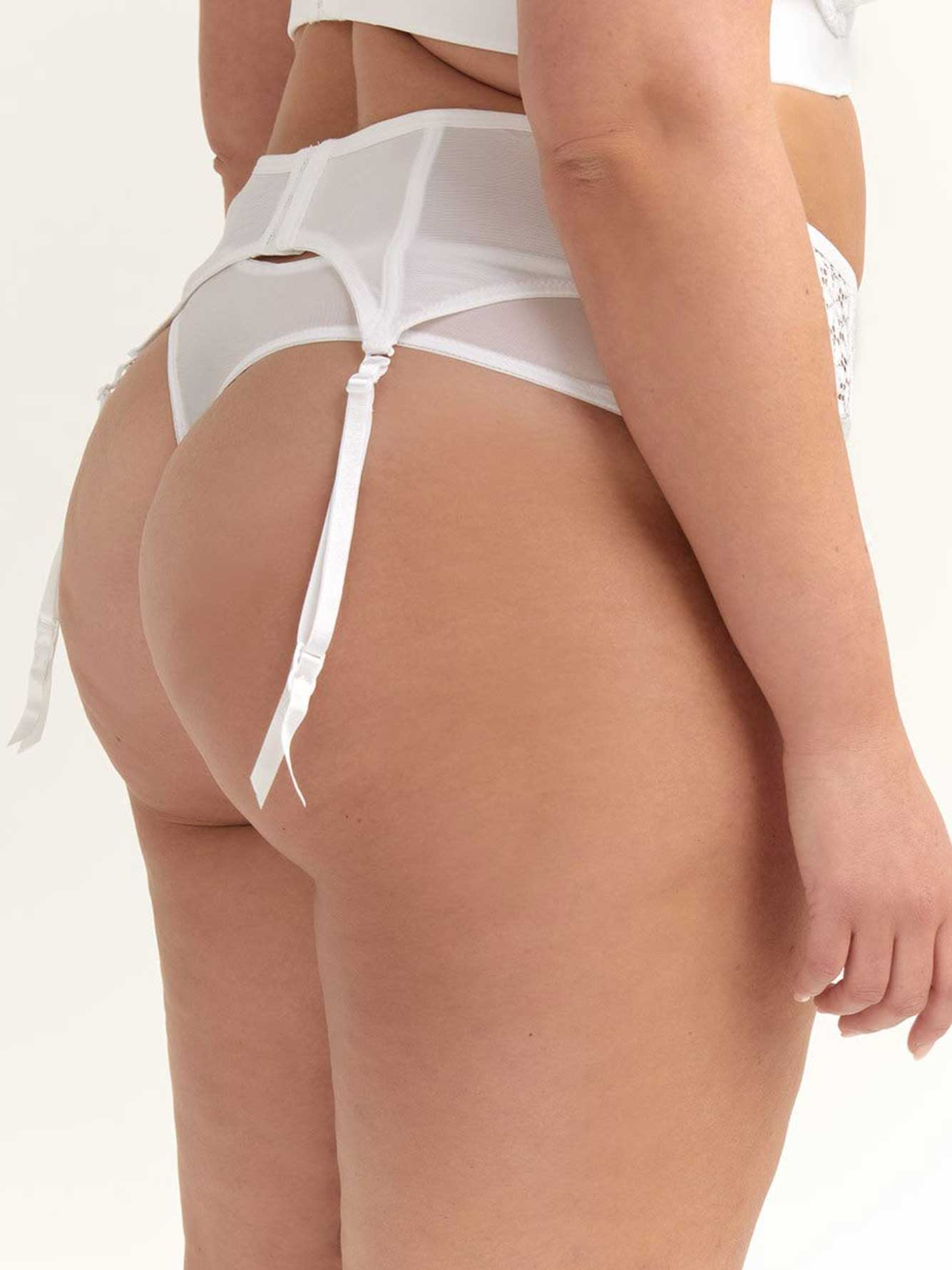 Garter Belt with Lace Up Detail - Ashley Graham