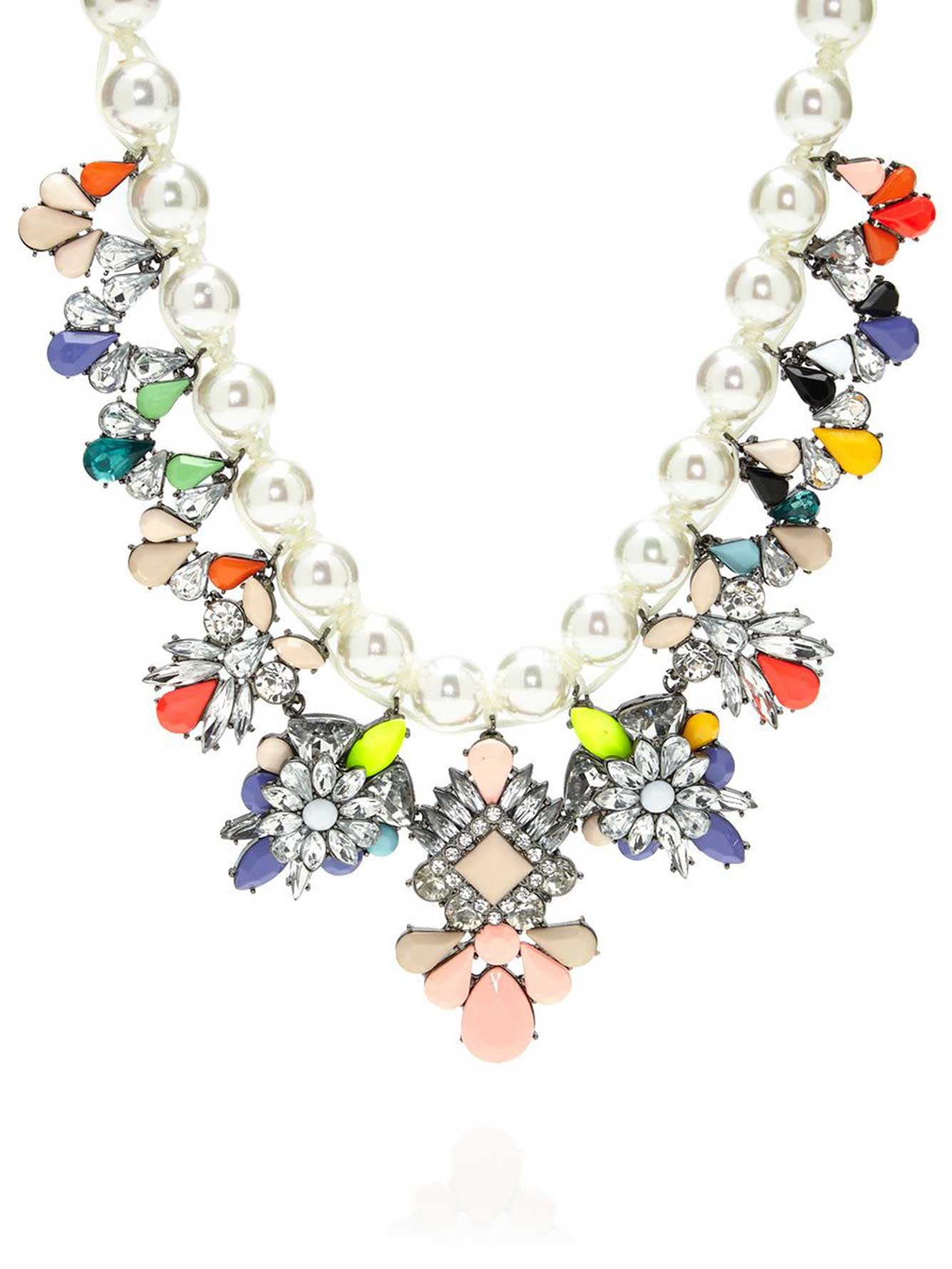 Pearl and Gemstone Statement Necklace