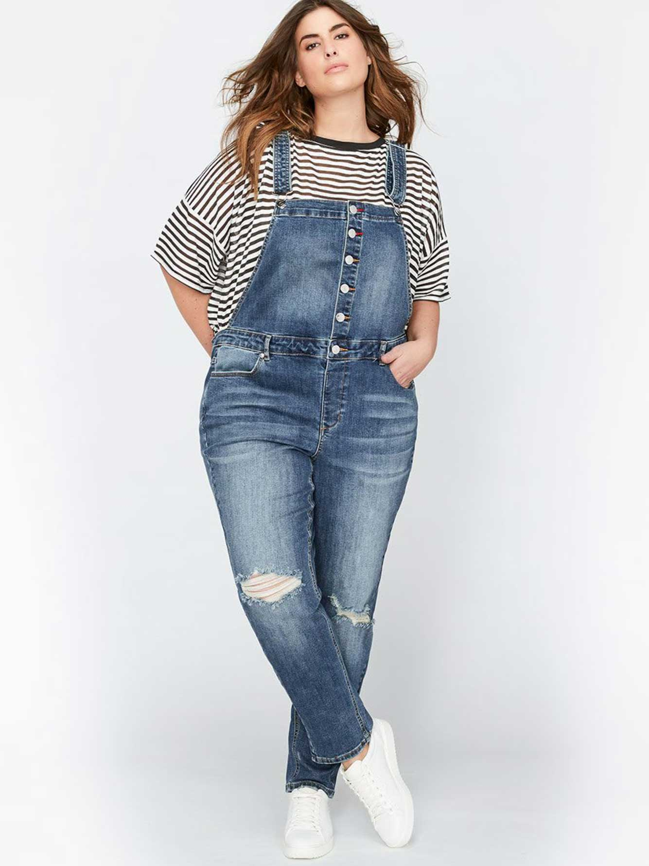 L&L Slim Leg Overalls with Rolled-Up Cuff