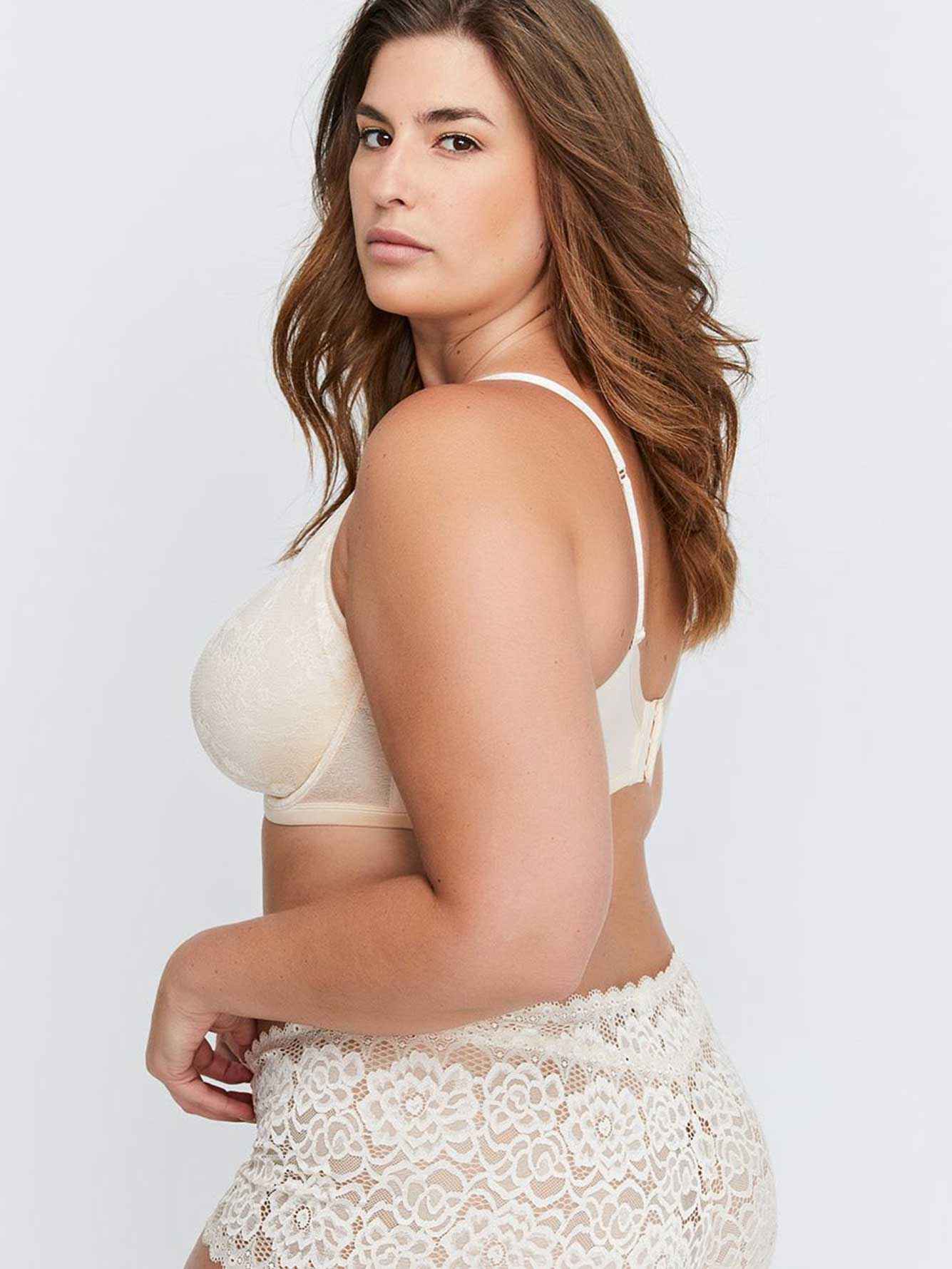 Non Padded Underwire Lace Bra - Déesse Collection