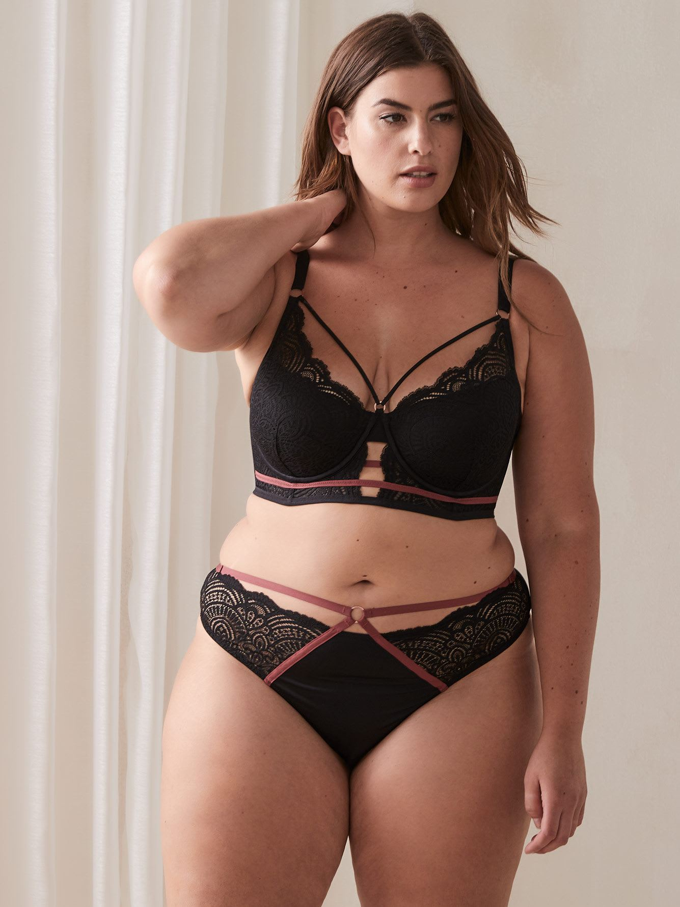 Ashley Graham - Soutien-gorge bustier Diva à demi bonnets, bonnets G et H