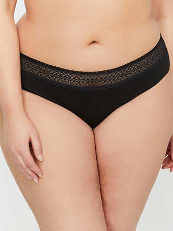 Hipster Panty With Lace - Déesse Collection