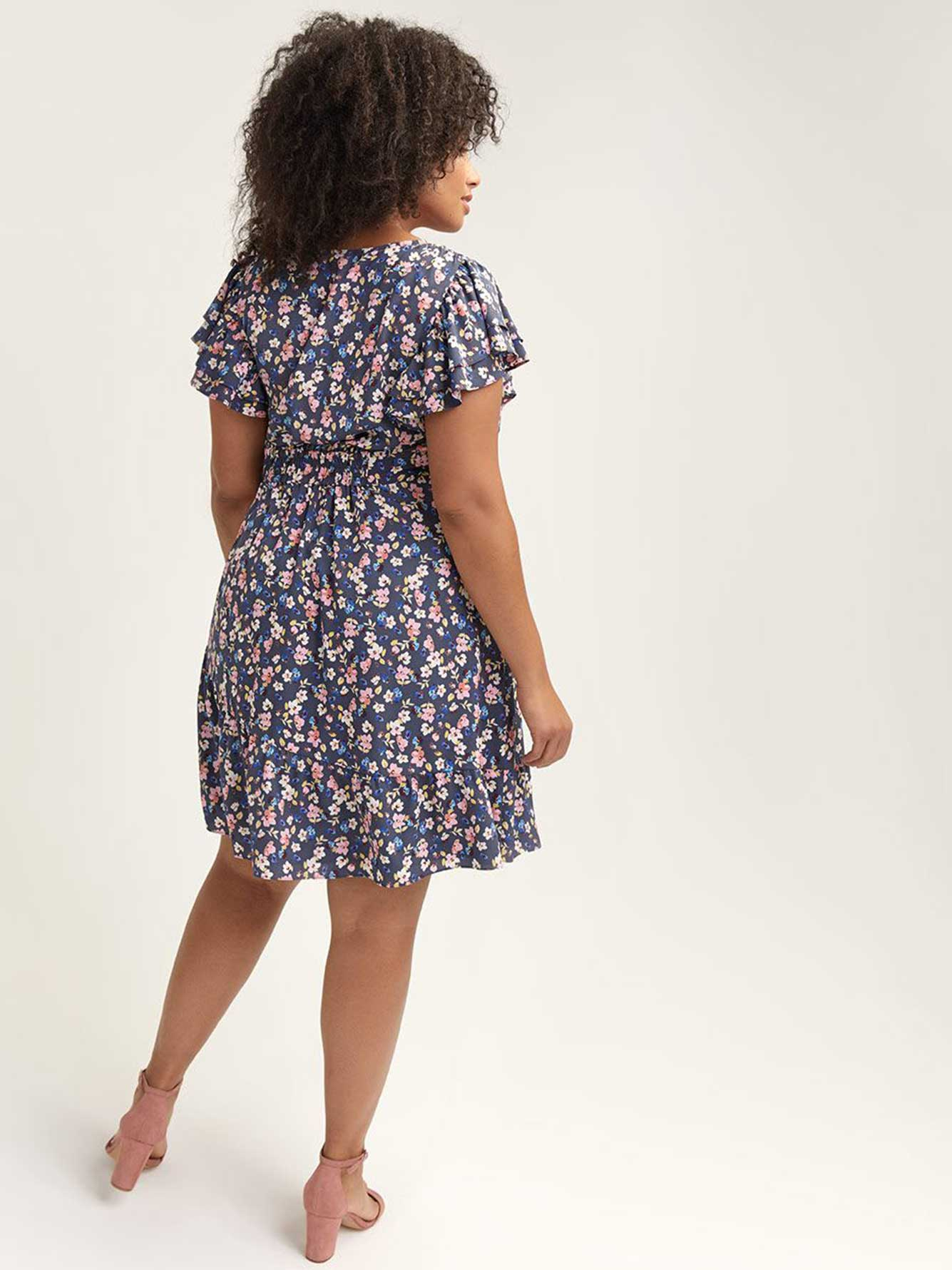 Faux-Wrap Pierce Dress - RACHEL Rachel Roy