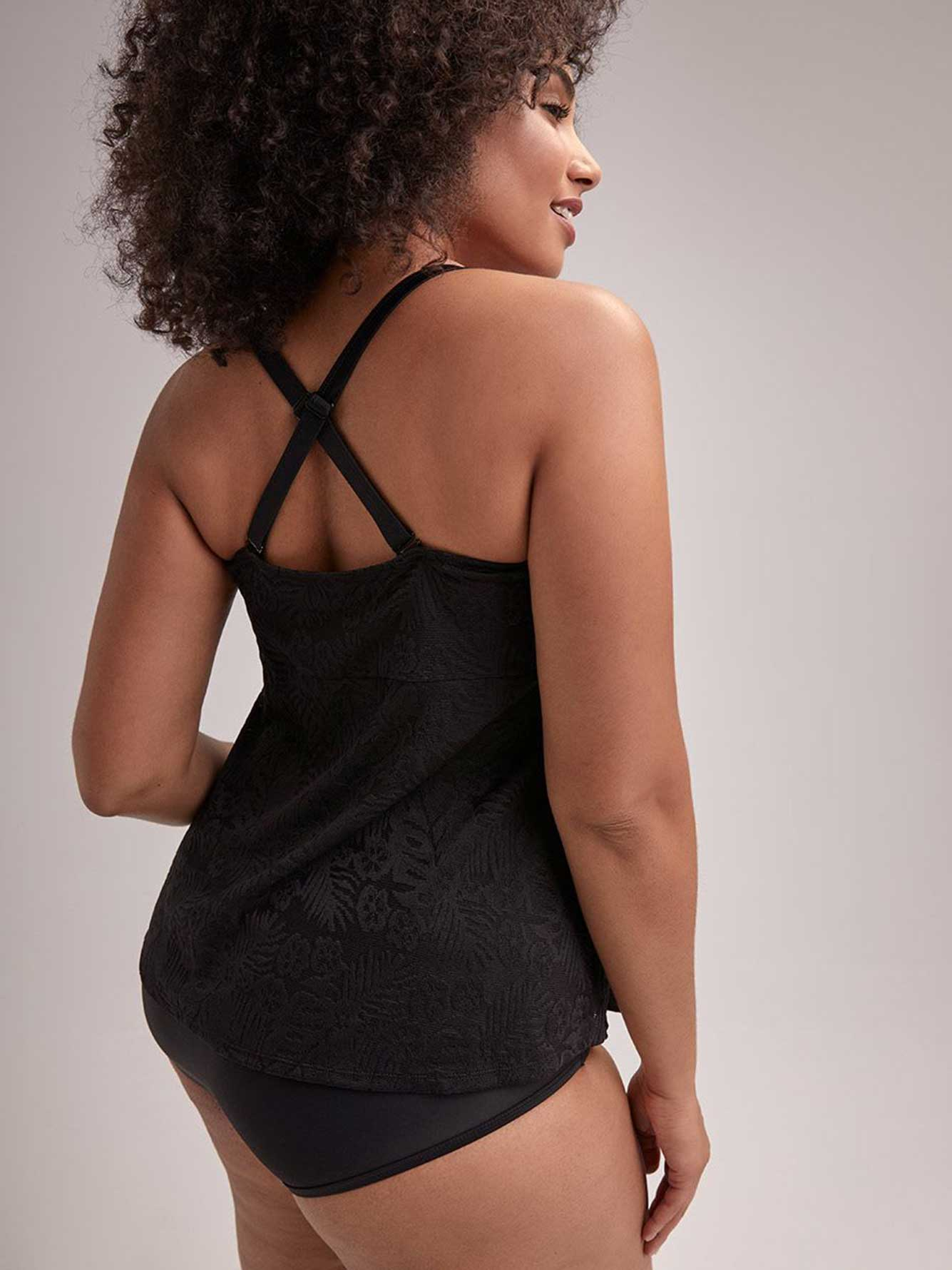 Tankini Top with Removable Straps - Cactus