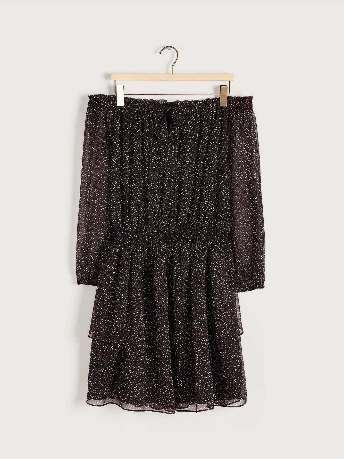 RACHEL Rachel Roy Sumi - Off-the-Shoulder Georgette Dress