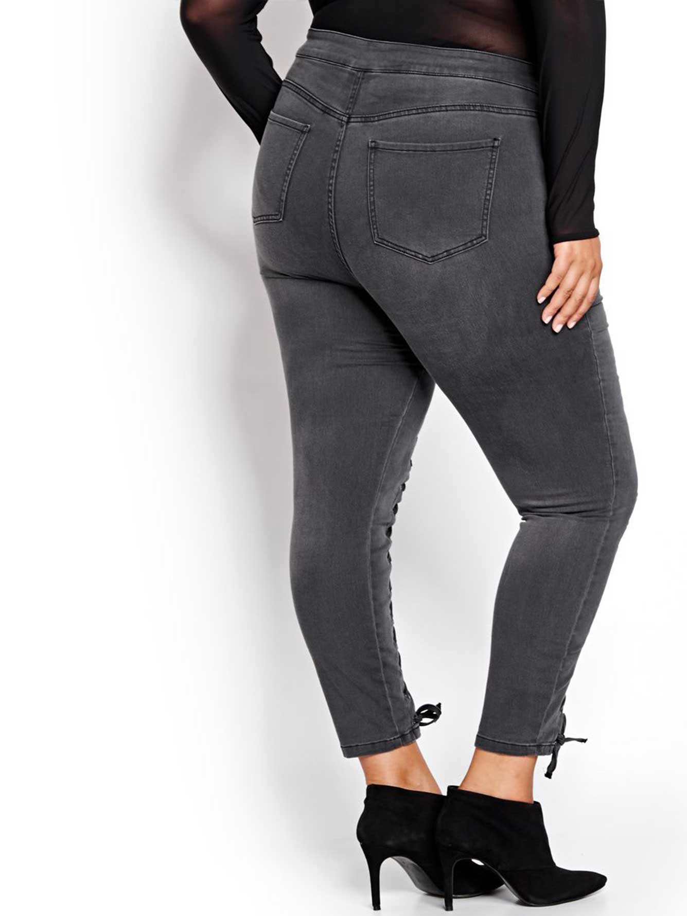 Nadia Aboulhosn Front Lace-up Jegging for L&L