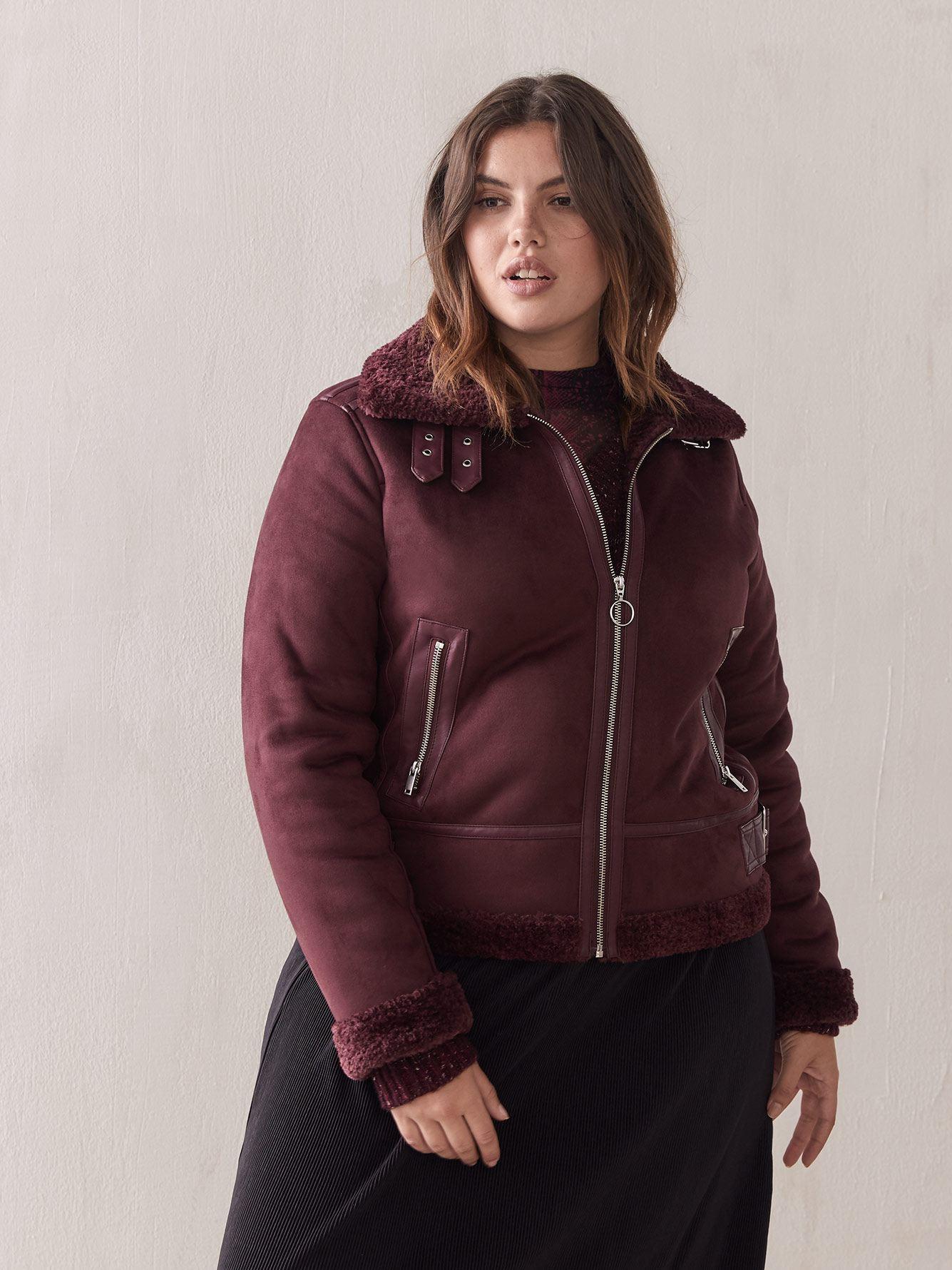 Shearling & Sherpa Jacket - Addition Elle