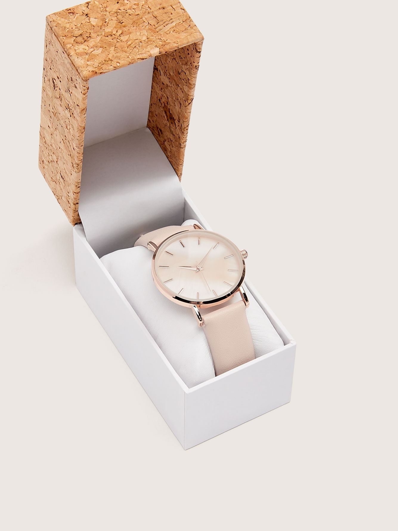 Genuine Leather Watch with Mother of Pearl Dial - Addition Elle