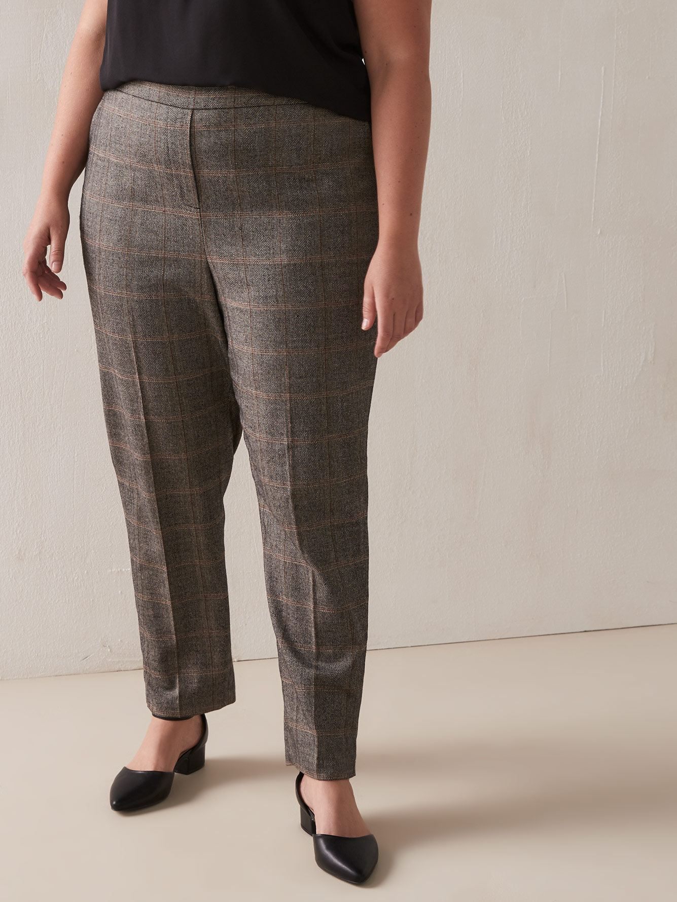 Petite, High Waist Tapered Pant - Addition Elle