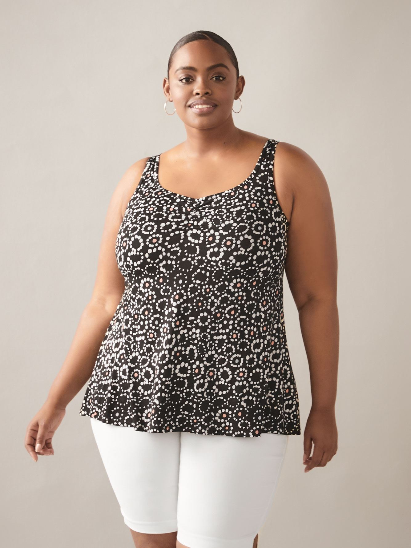 Printed Sweetheart-Neck Tank Top - In Every Story