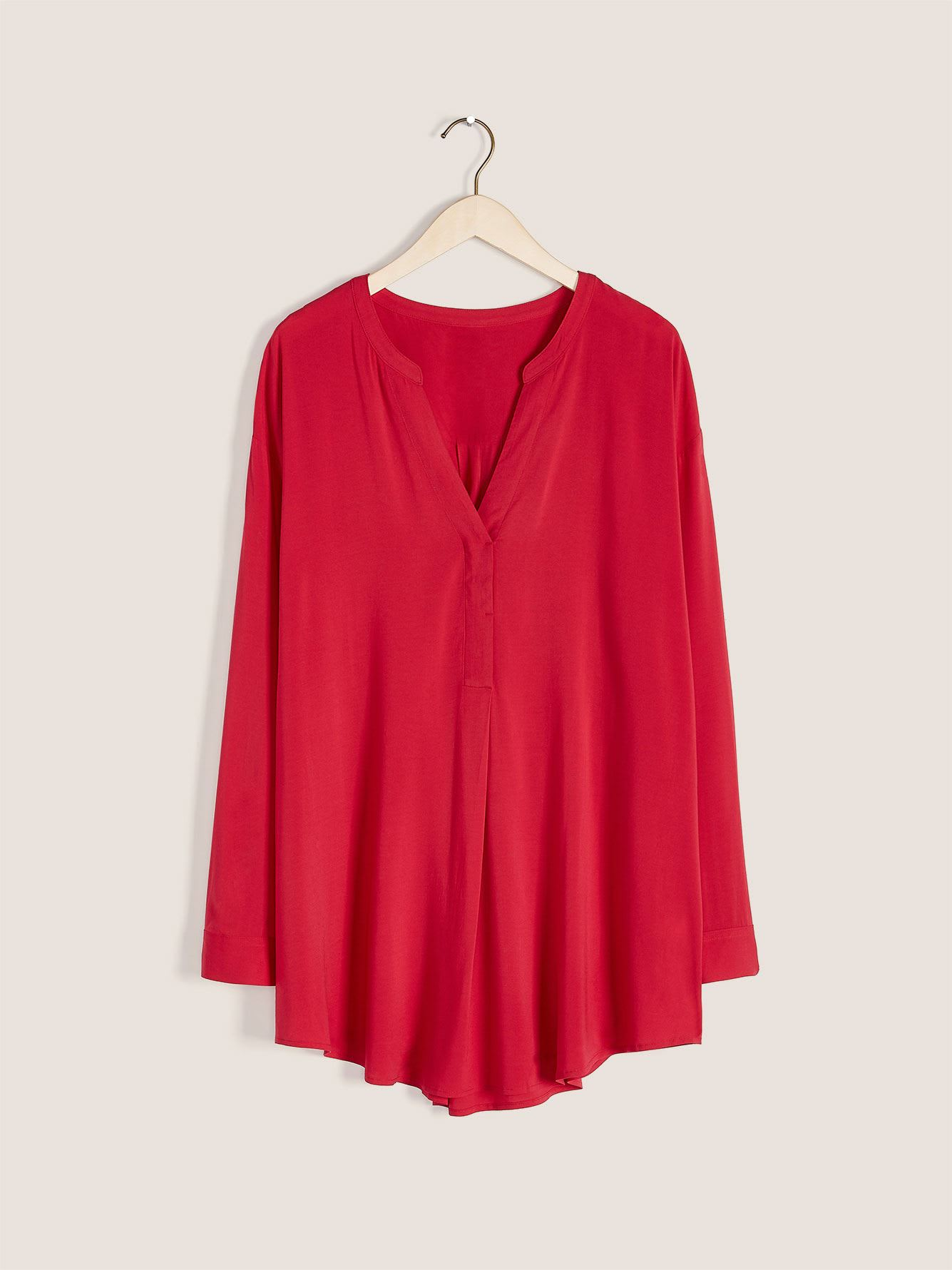 Mandarin Collar Tunic Blouse - In Every Story